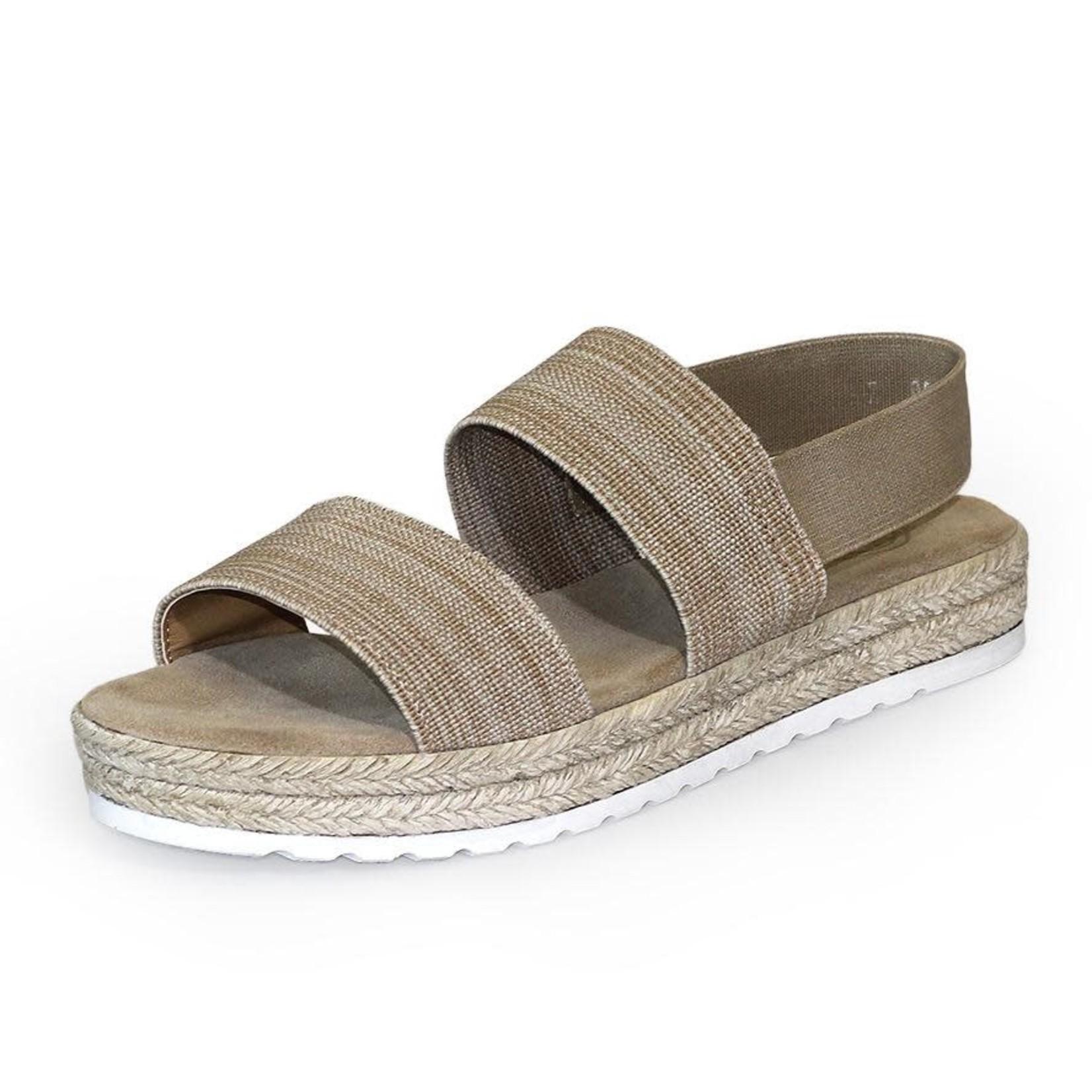 Ojai Sandal in Linen Size 9