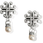 Brighton Taos Pearl Cross Petite Earrings