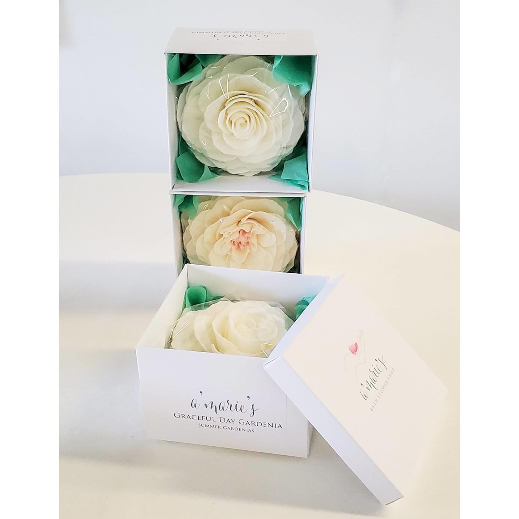 A'marie's Bath Flower Shop Gracious Pearl Petal Soap Flower