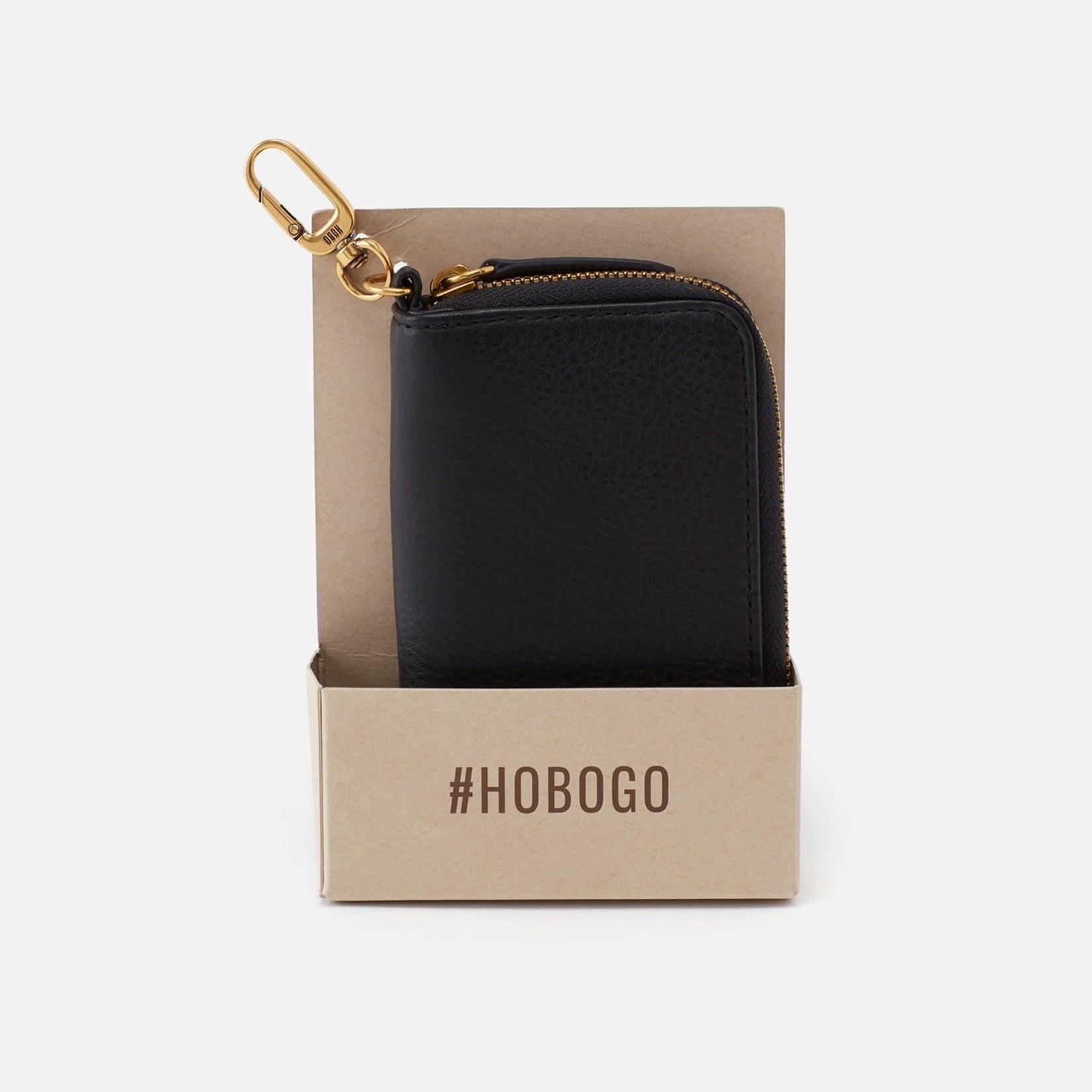 HOBO Move Black Soft Leather Clip Wallet
