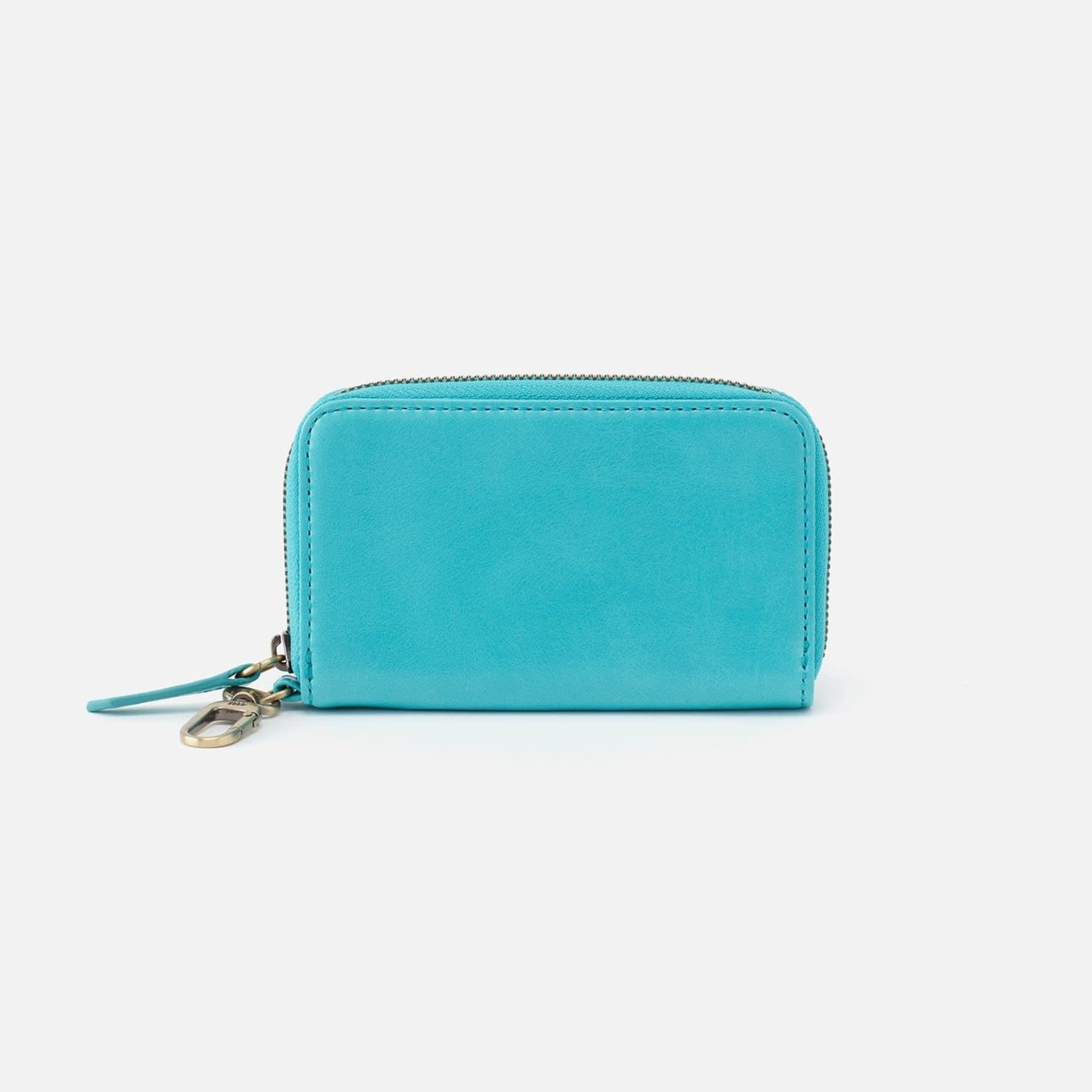 HOBO Move Aqua Vintage Leather Clip Wallet