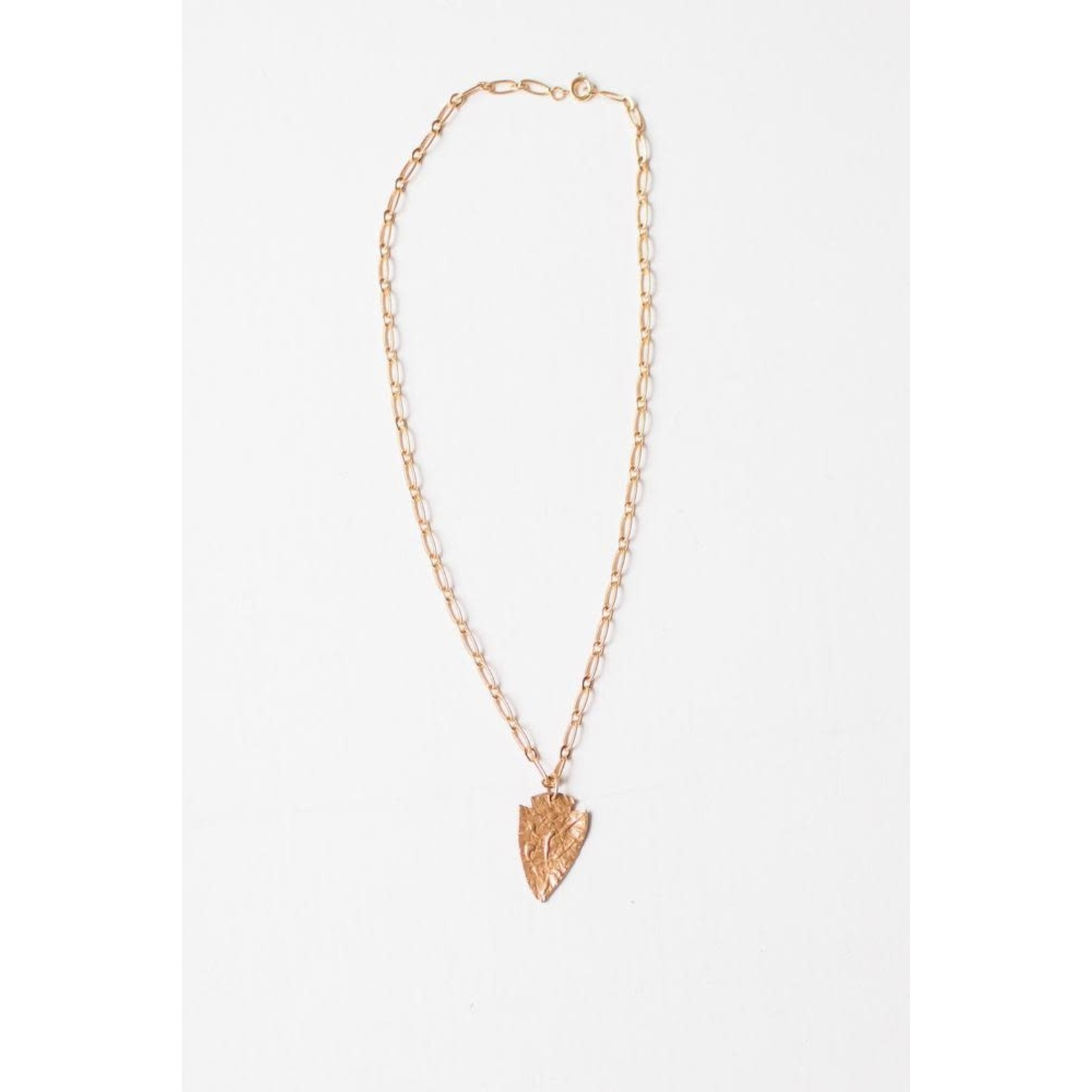 Leslie Curtis Jewelry Designs Charlie Hammered Arrowhead Necklace