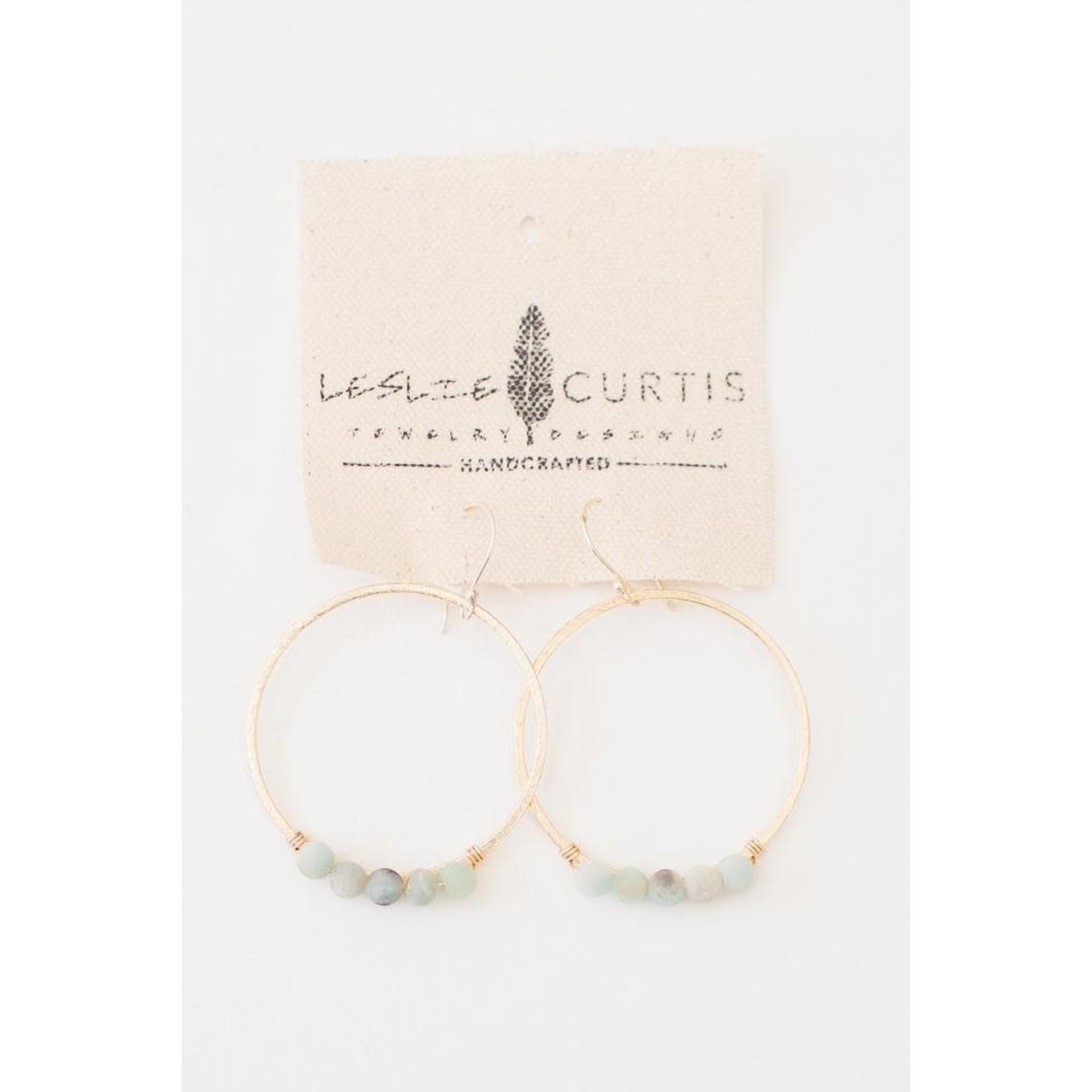 Leslie Curtis Jewelry Designs Jodi Hoop Earrings in Gold