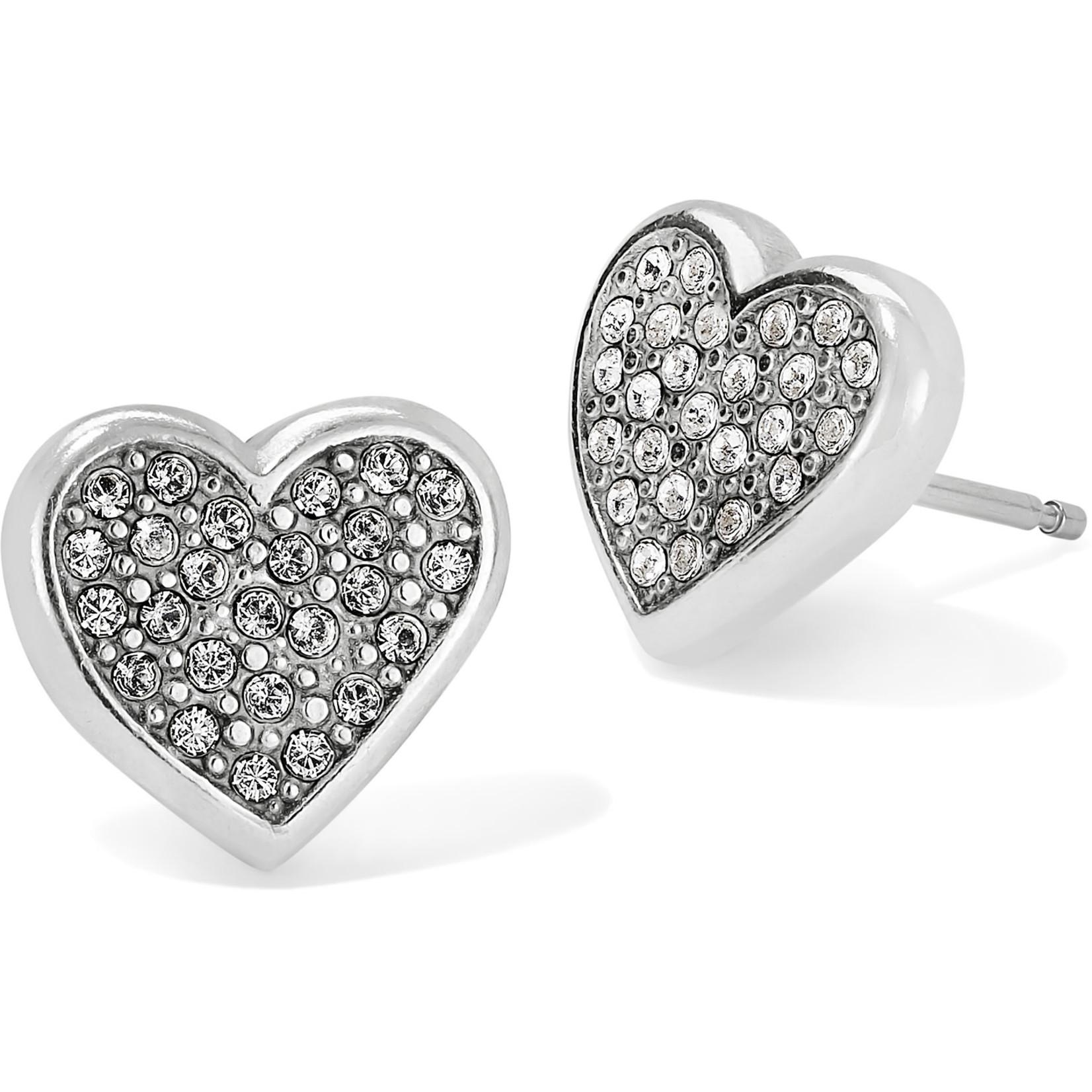 Brighton Eden Hearts Mini Post Earrings Silver