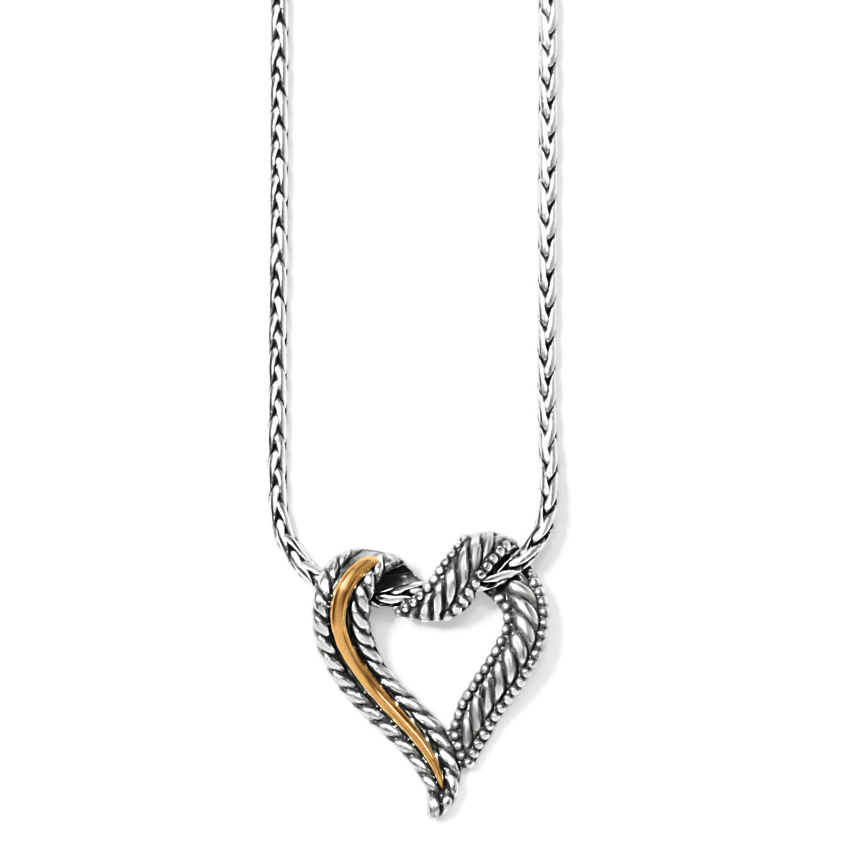 Brighton Callie 2-Tone Heart Necklace