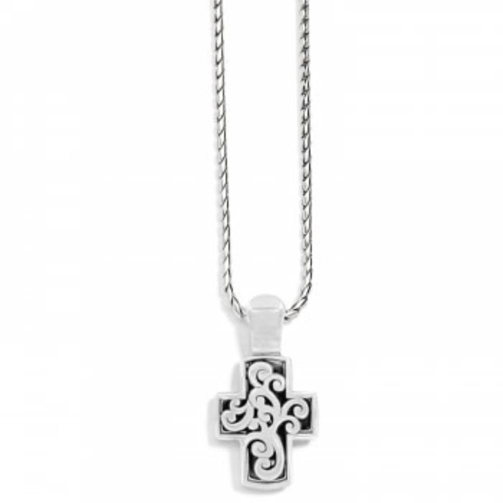 Brighton Sacred Cross Reversible Necklace silver