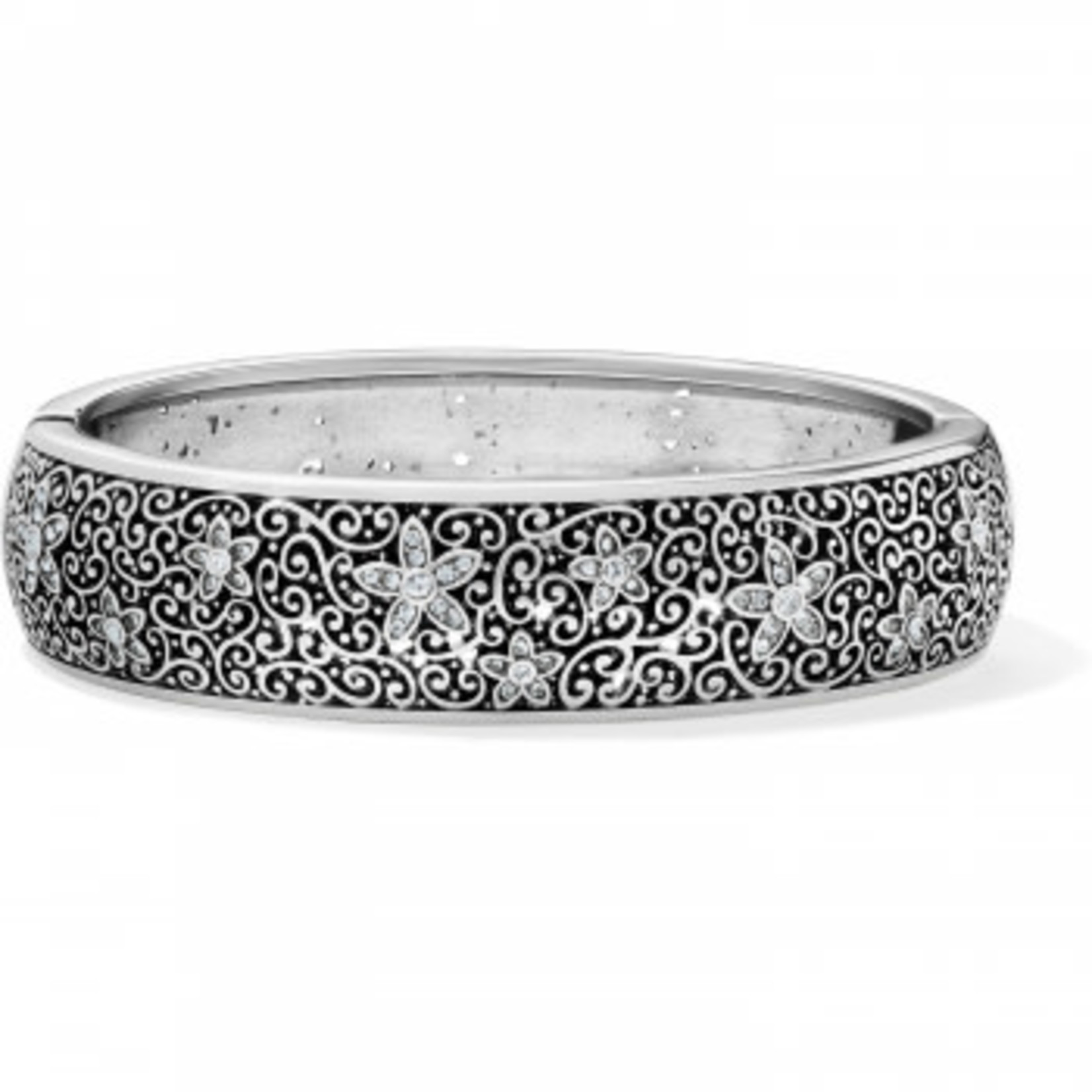 Brighton Baroness Fiori Hinged Bangle Silver