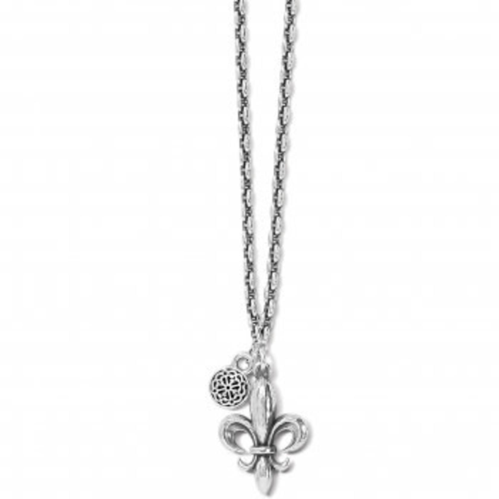 Brighton Ferrara Fleur De Lis Petite Necklace