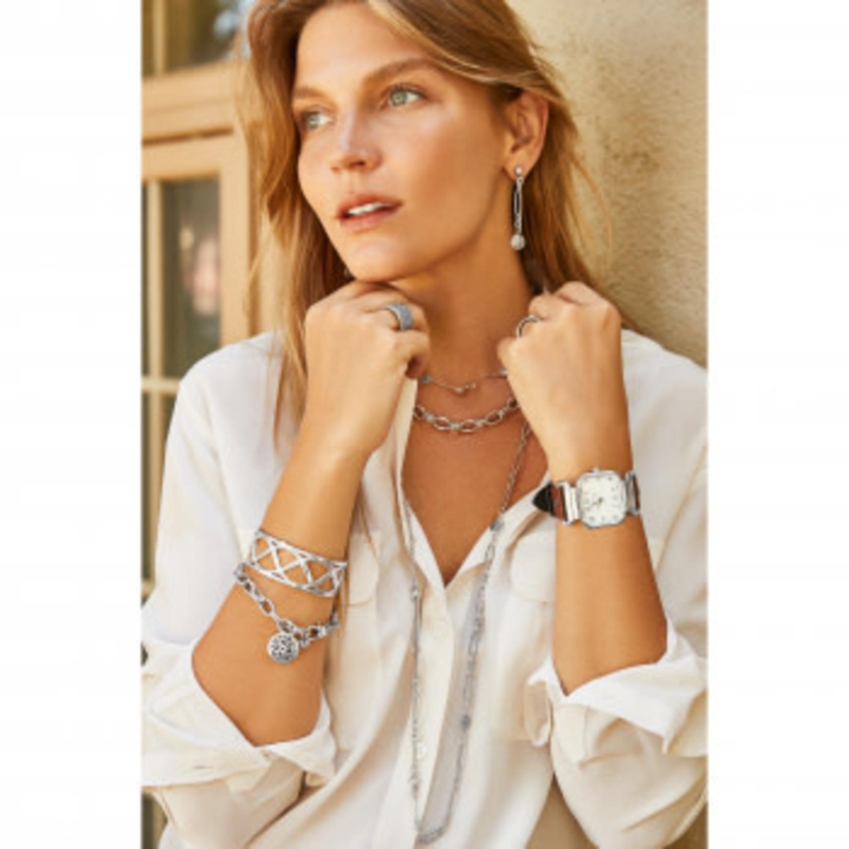 Brighton Ferrara Link Long Necklace Silver OS