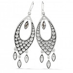 Brighton Pebble Disc Marquise Statement French Wire Earrings