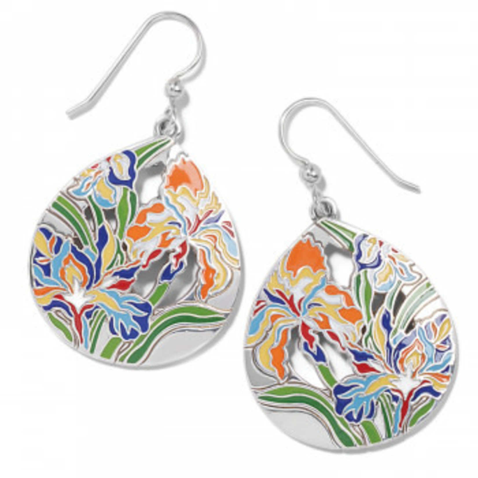 Brighton Iris Bloom French Wire Earrings
