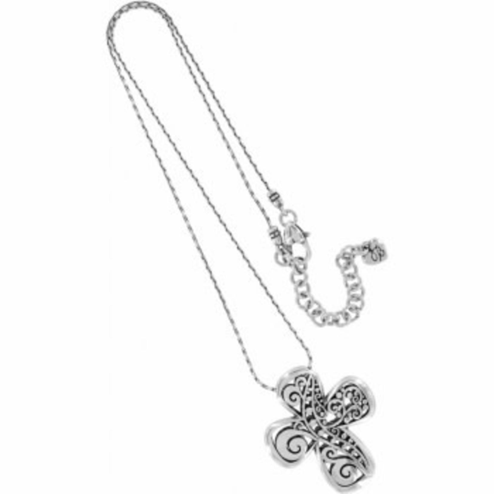 Brighton Love Affair Reversible Cross Necklace silver