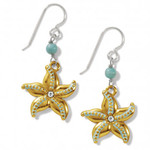 Brighton Paradise Cove Starfish French Wire Earrings