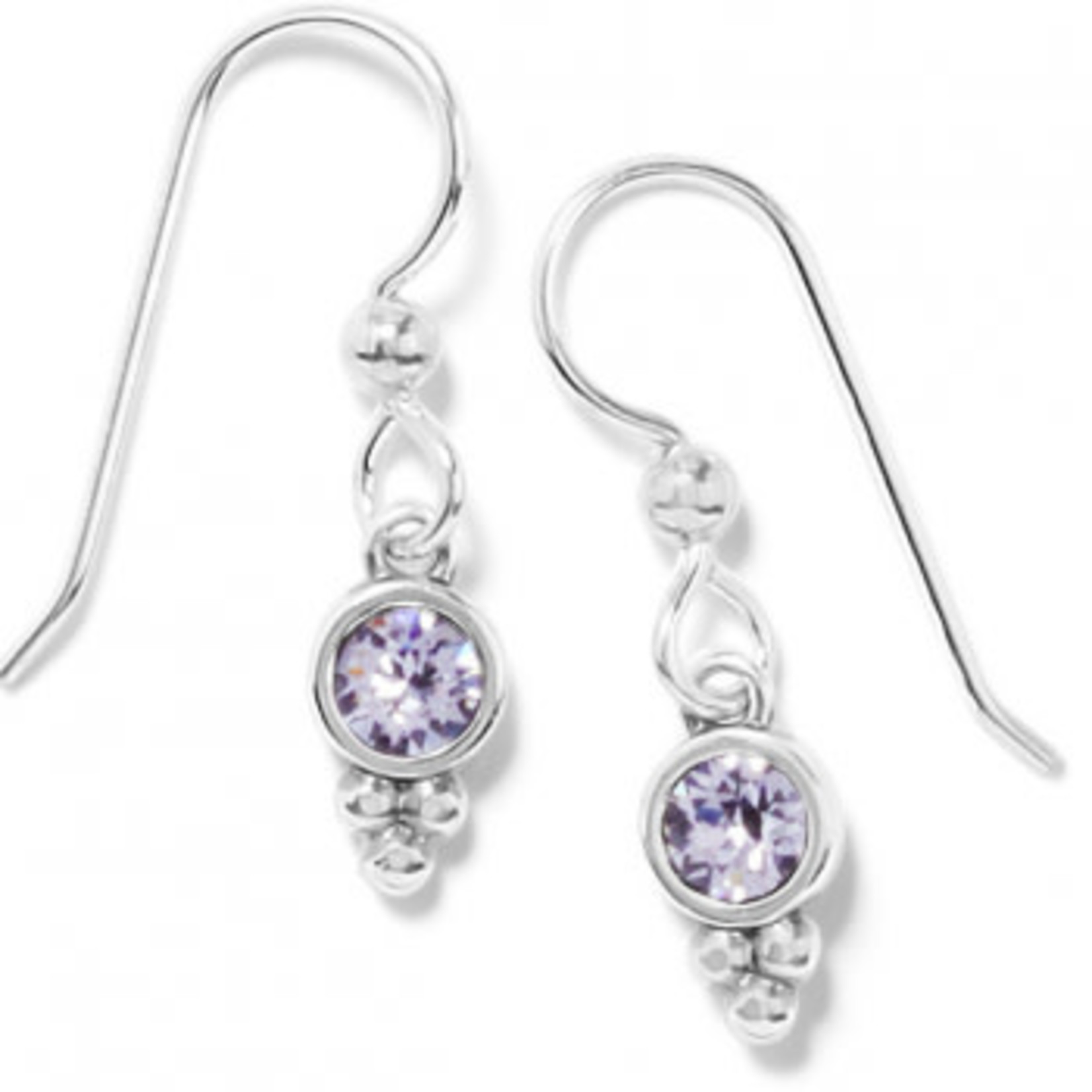 Brighton Color Drops French Wire Earrings in Grey