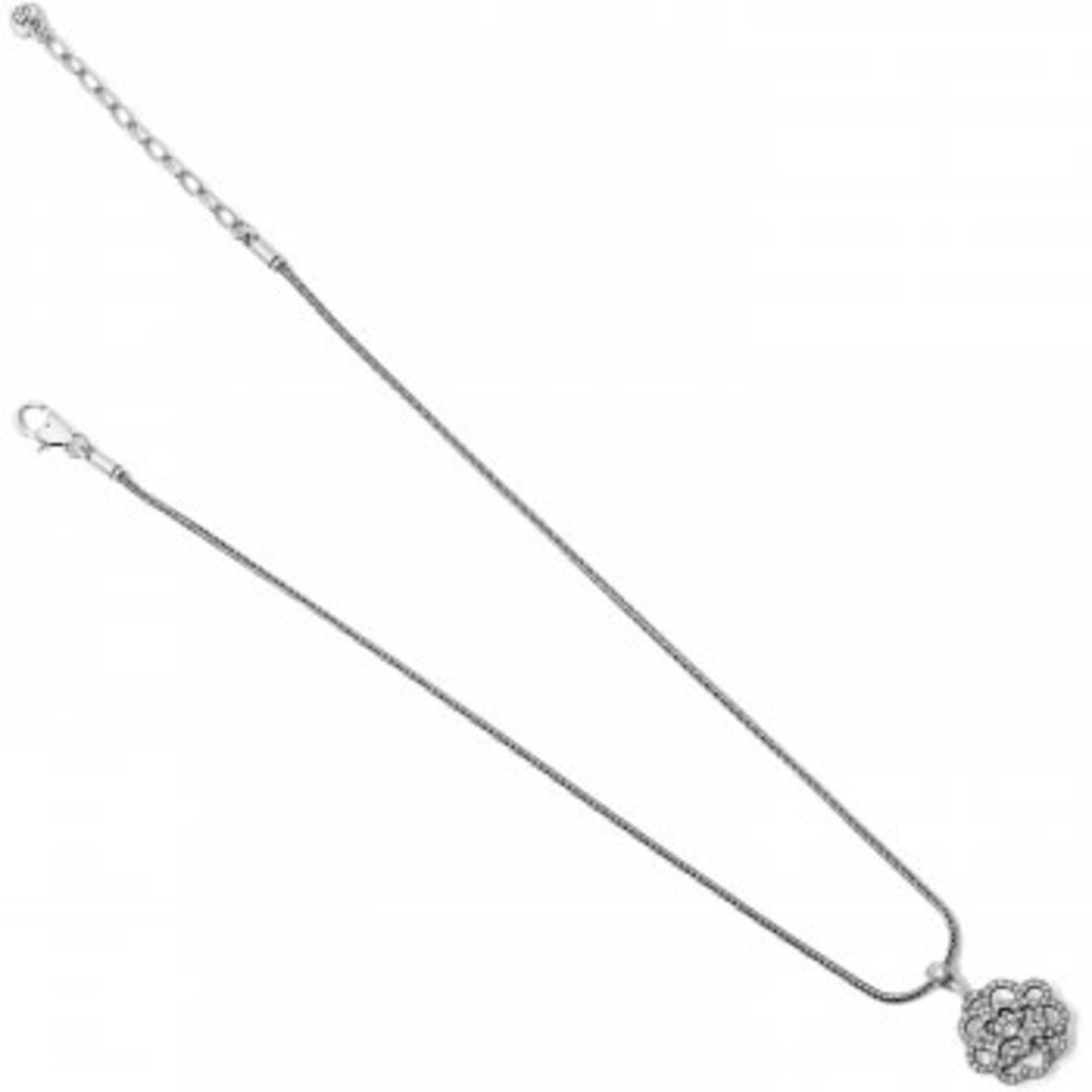 Brighton The Botanical Rose Reversible Short Necklace Silver