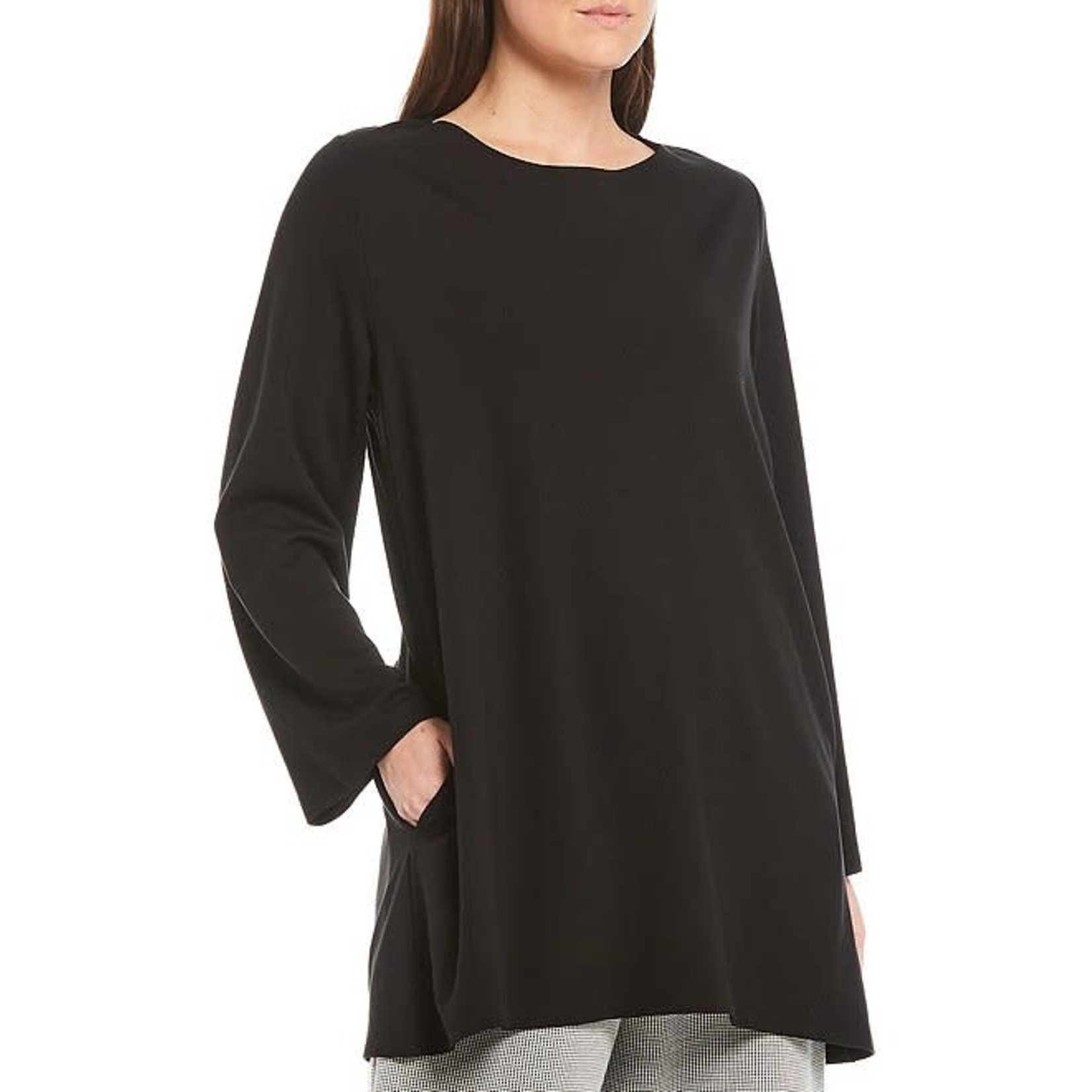 Bryn Walker Twyla Charcoal 3/4 Sleeve  Linen Tunic