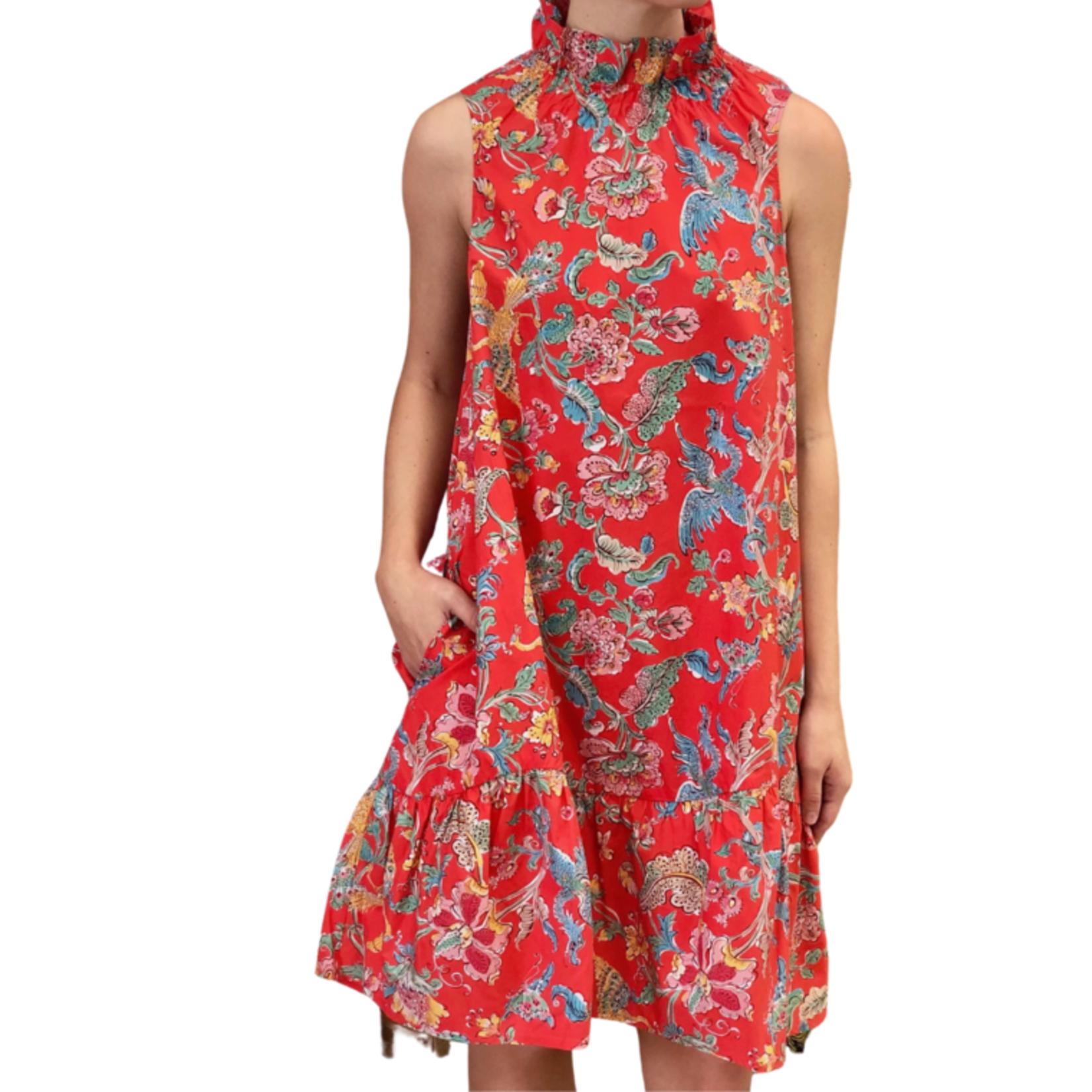 Tyler Boe Poppy Poplin Chinoiserie Print Dress