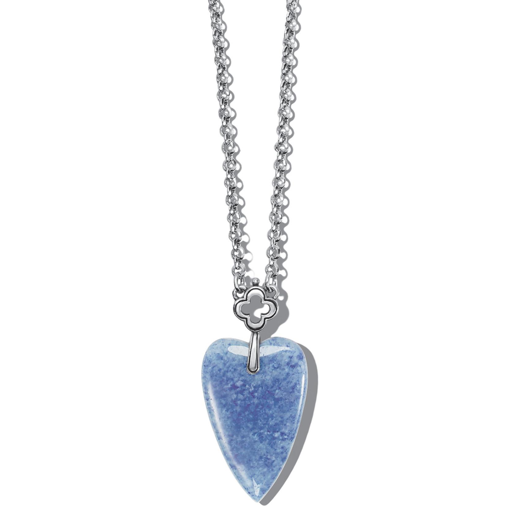 Brighton Toledo With Love Blue Quartz Necklace