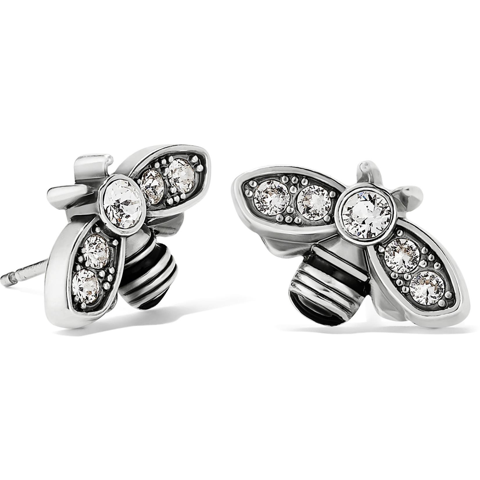 Brighton Bee Beautiful Mini Post Earrings Silver
