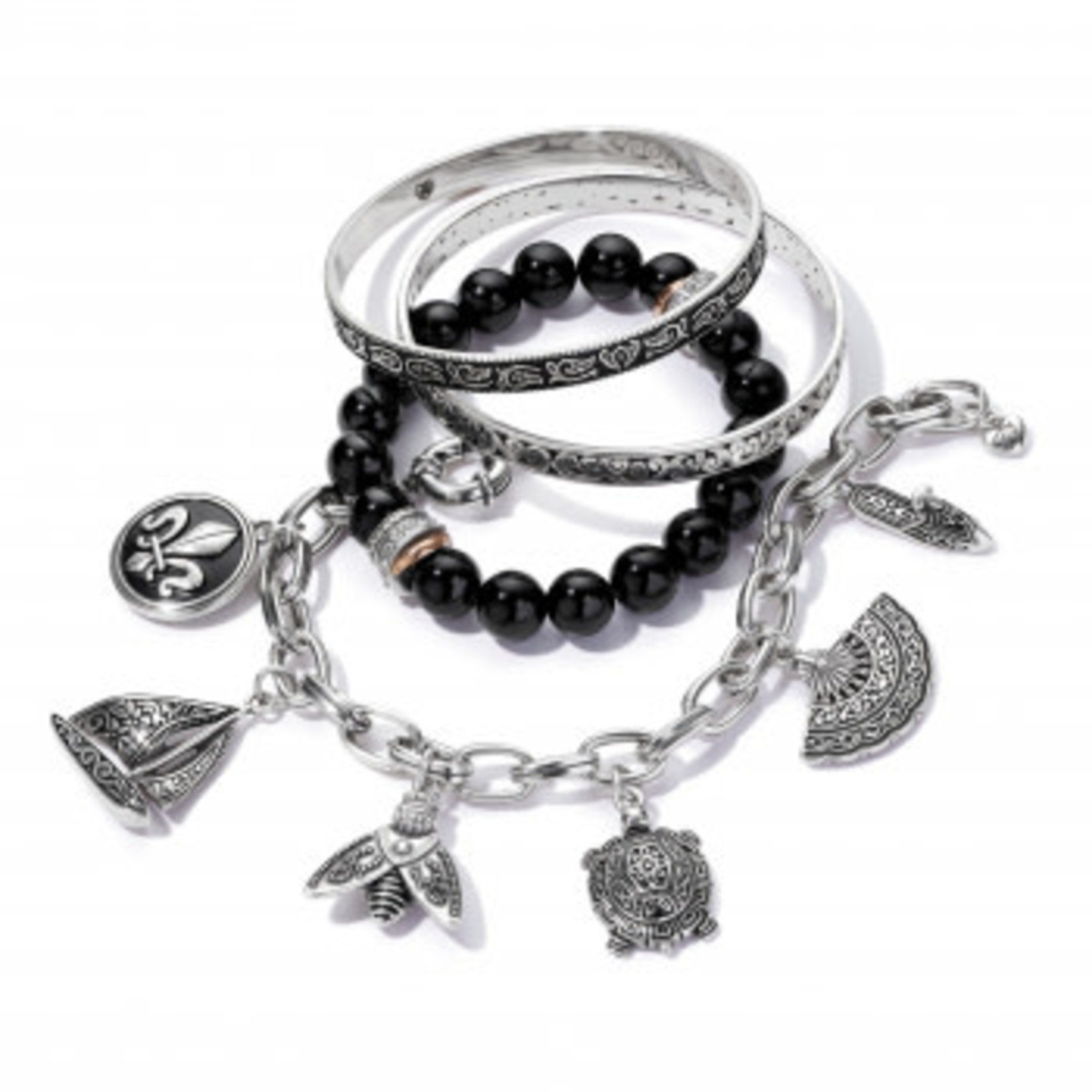 Brighton Moonlight Garden Bangle Silver OS