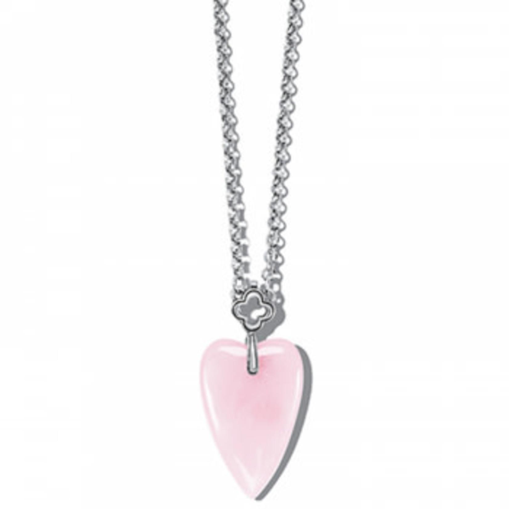 Brighton Toledo With Love Rose Quartz Necklace