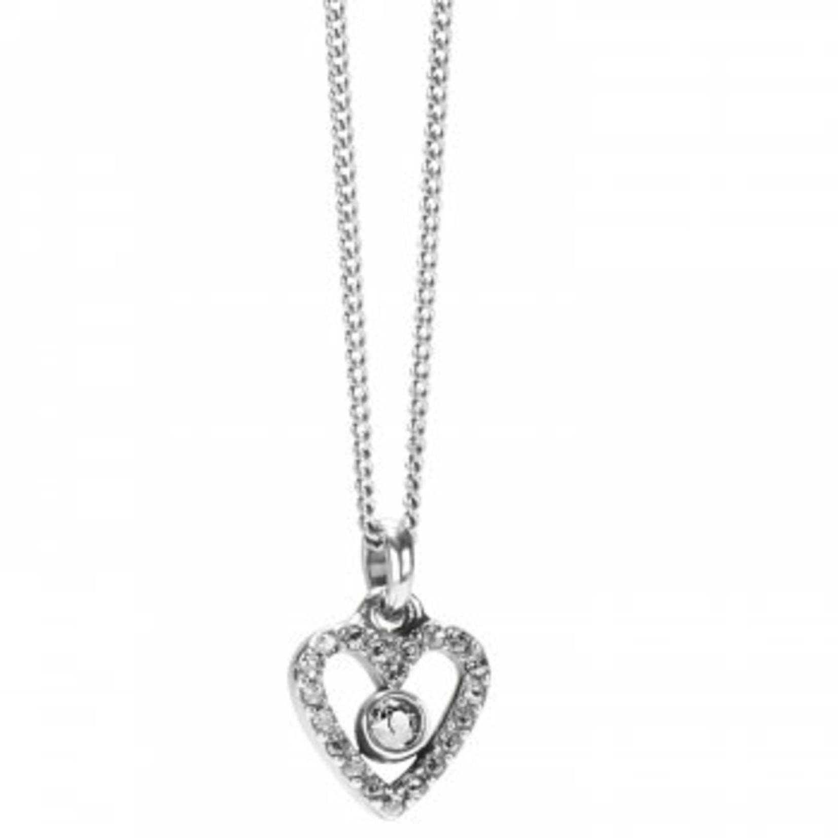 Brighton Illumina Love Mini Necklace Silver OS