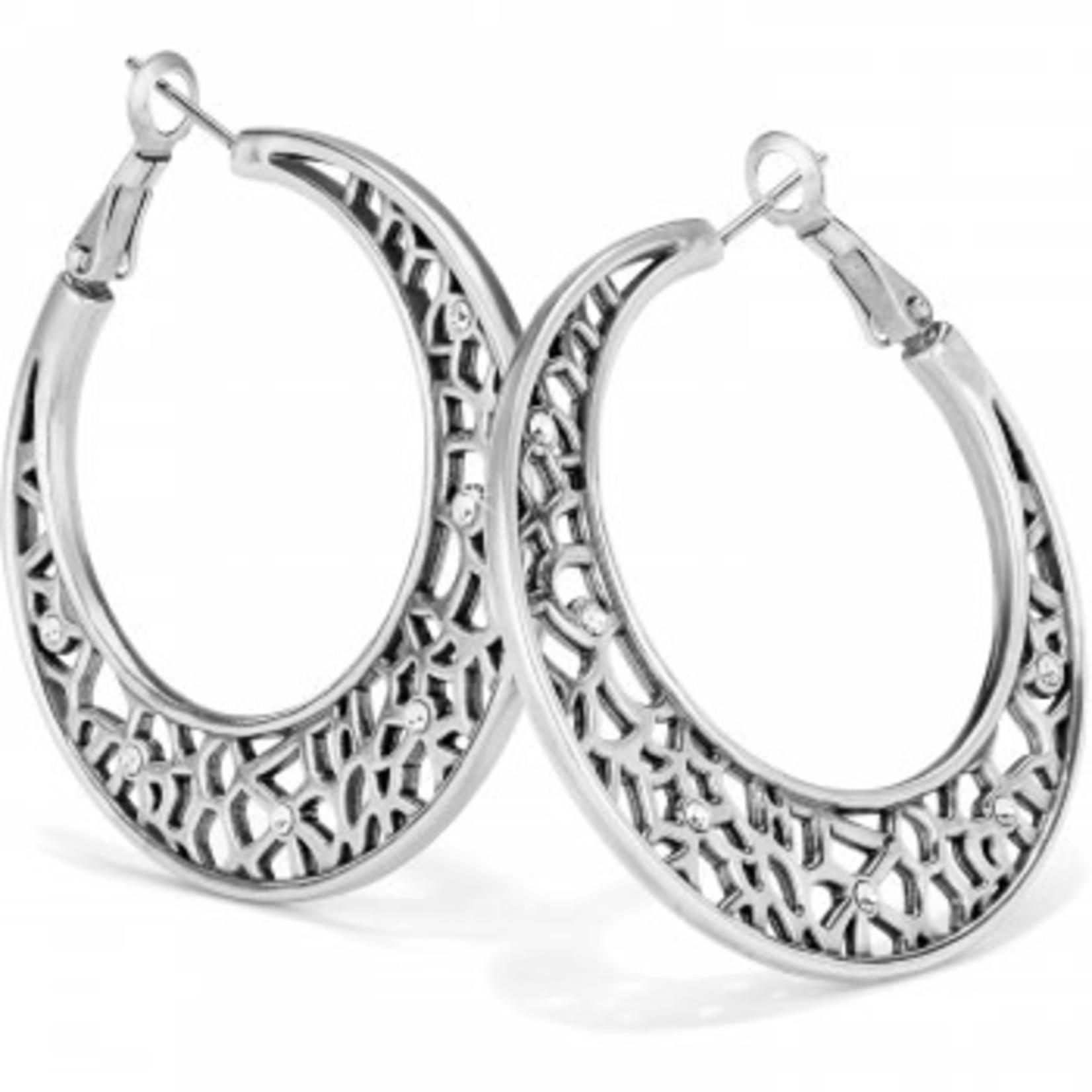 Brighton Fiji Sparkle Hoop Earrings Silver