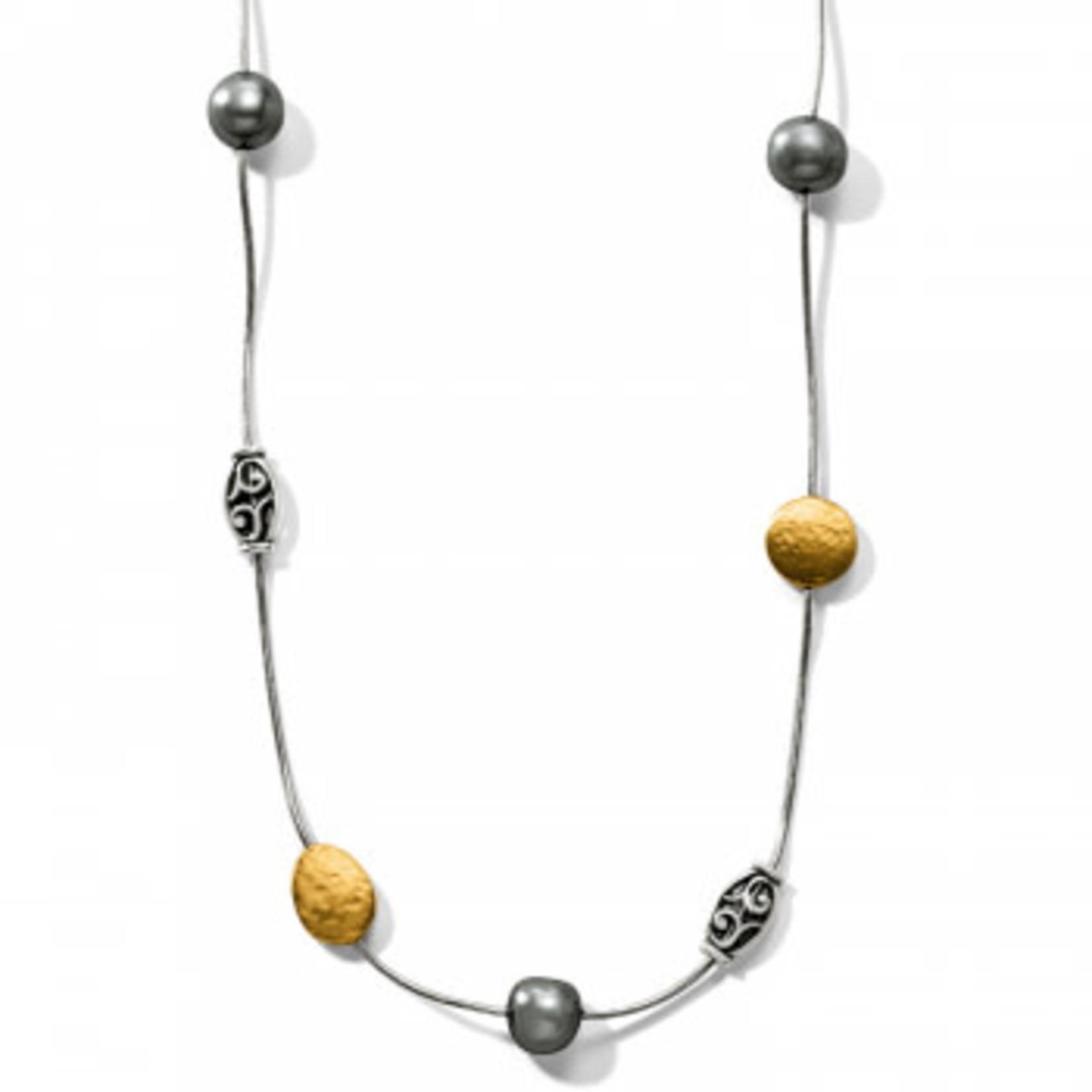 Brighton Mediterranean Gray Pearl Long Necklace Gray
