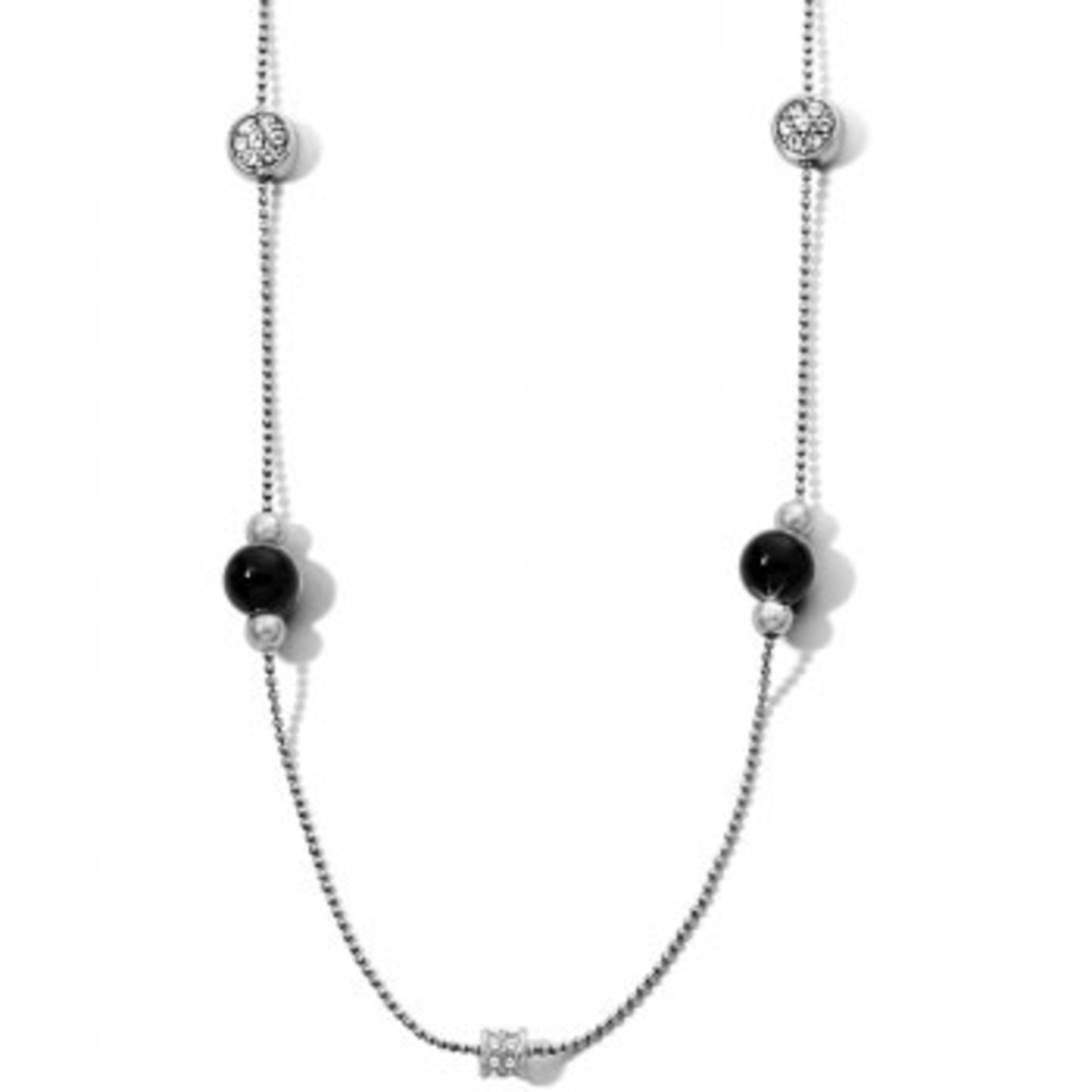 Brighton Meridian Prime Long Necklace Silver-Black