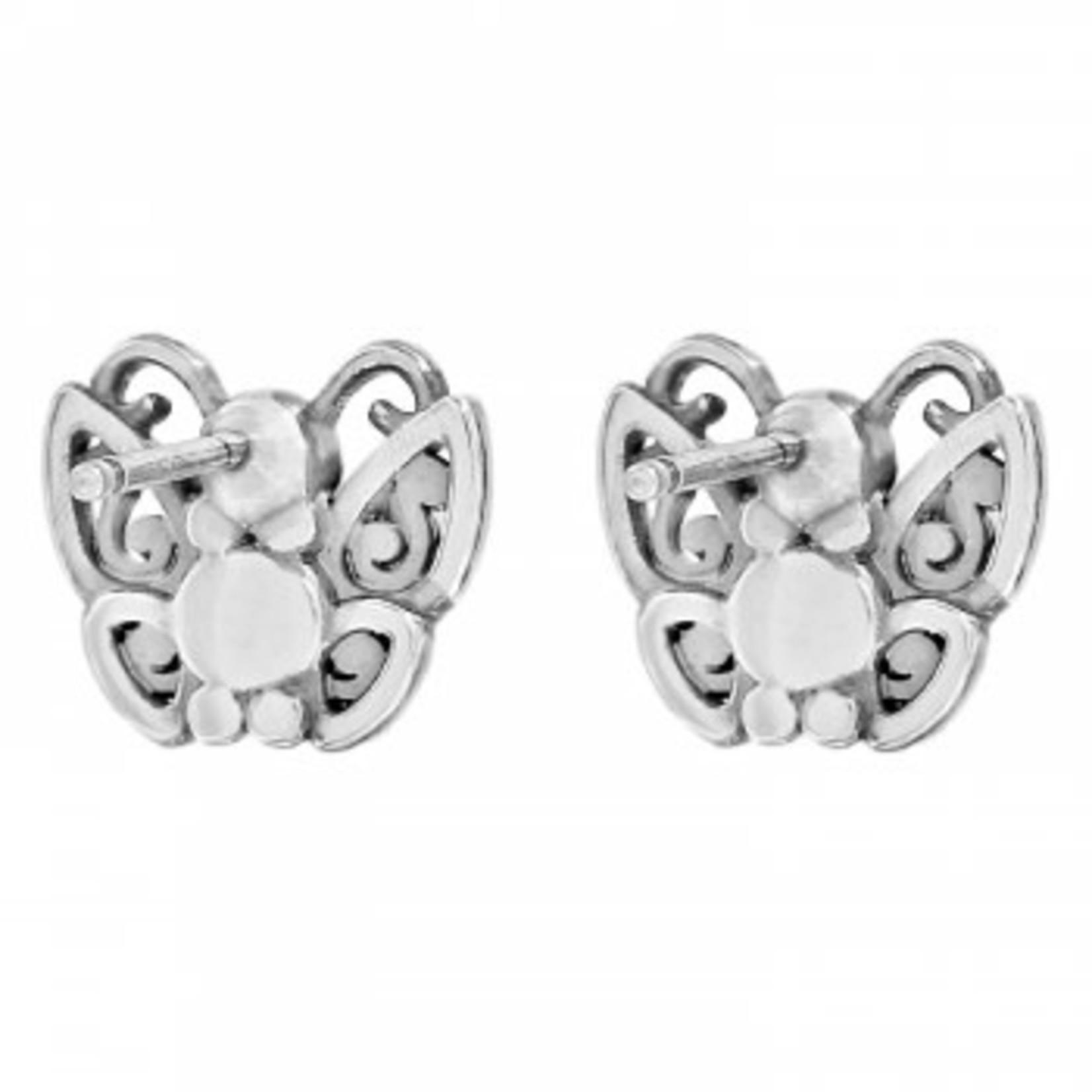 Brighton Flight Of Fancy Mini Post Earrings Silver