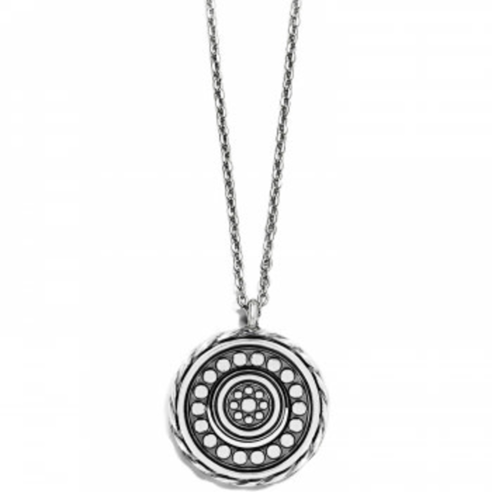 Brighton Halo Eclipse Petite Necklace Silver-Blue