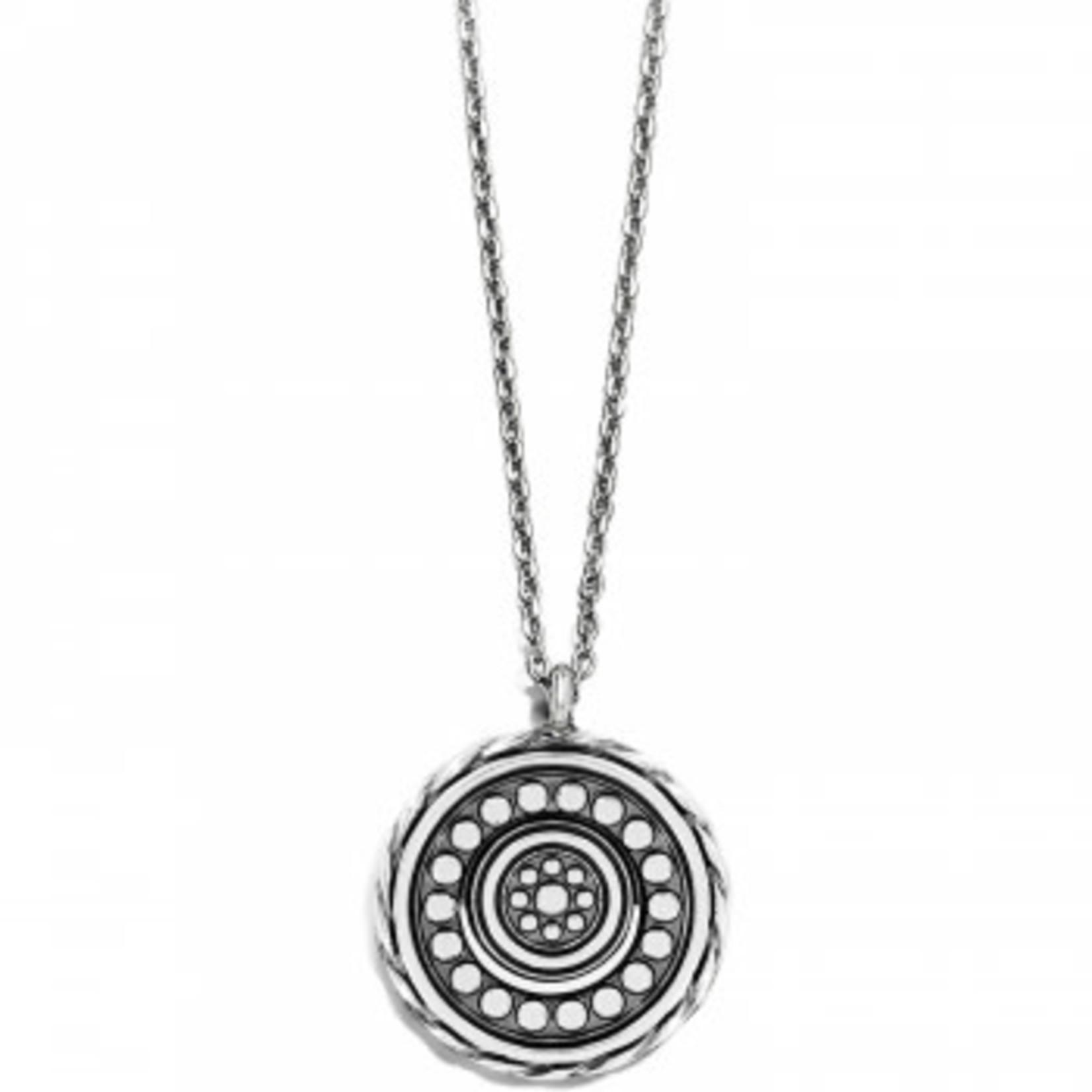 Brighton Halo Light Petite Necklace Silver-White