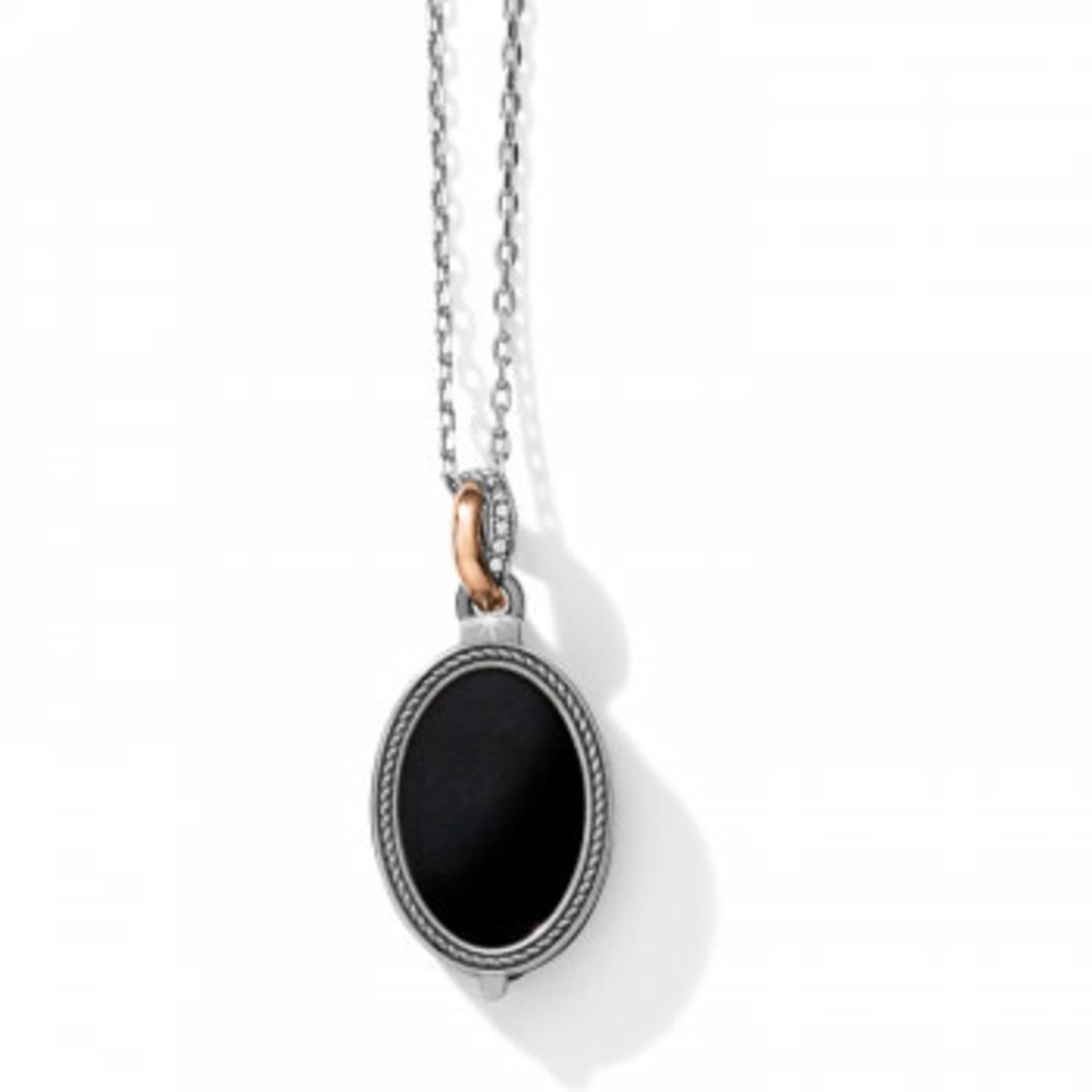 Brighton Neptune's Rings Oval Black Agate Reversible Short Necklace
