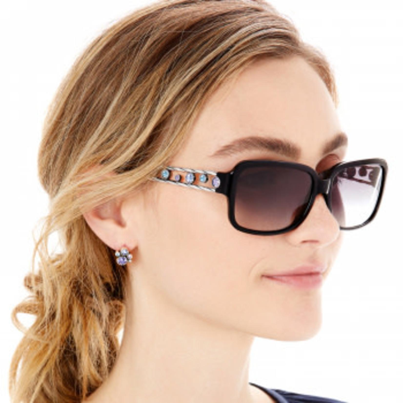 Brighton Halo Sunglasses Black-Tanzanite