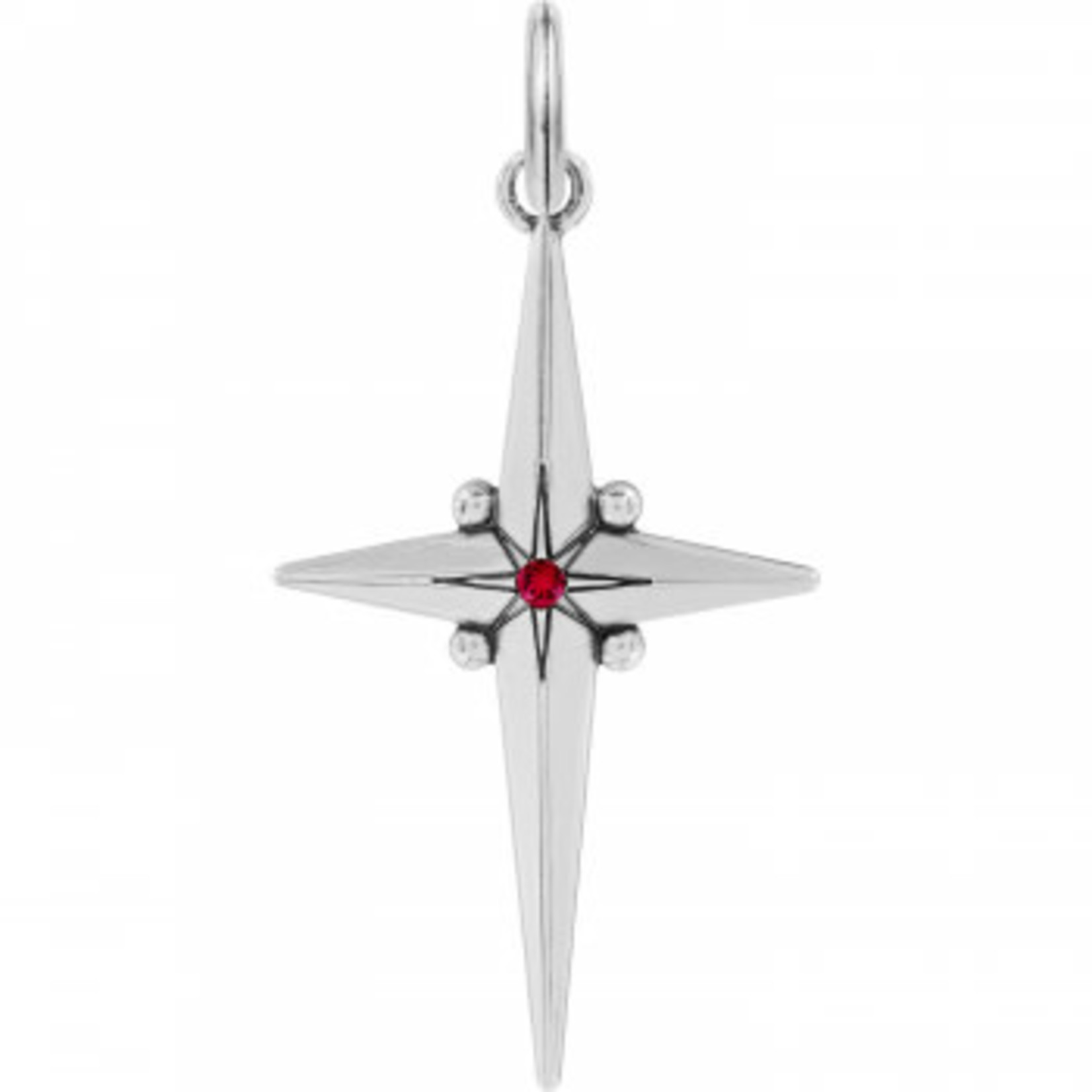 Brighton Alexandria Cross Amulet Silver-Red