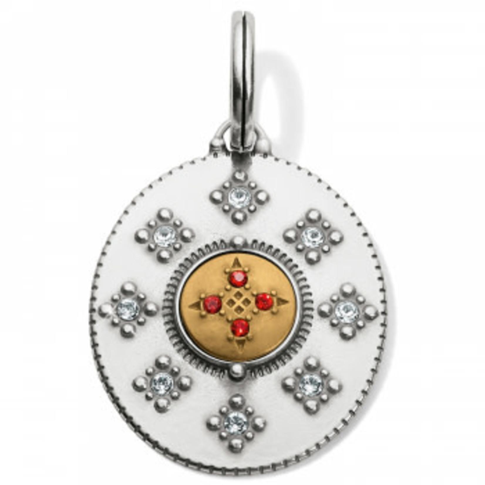 Brighton Athena Mediallion Amulet Silver-Gold