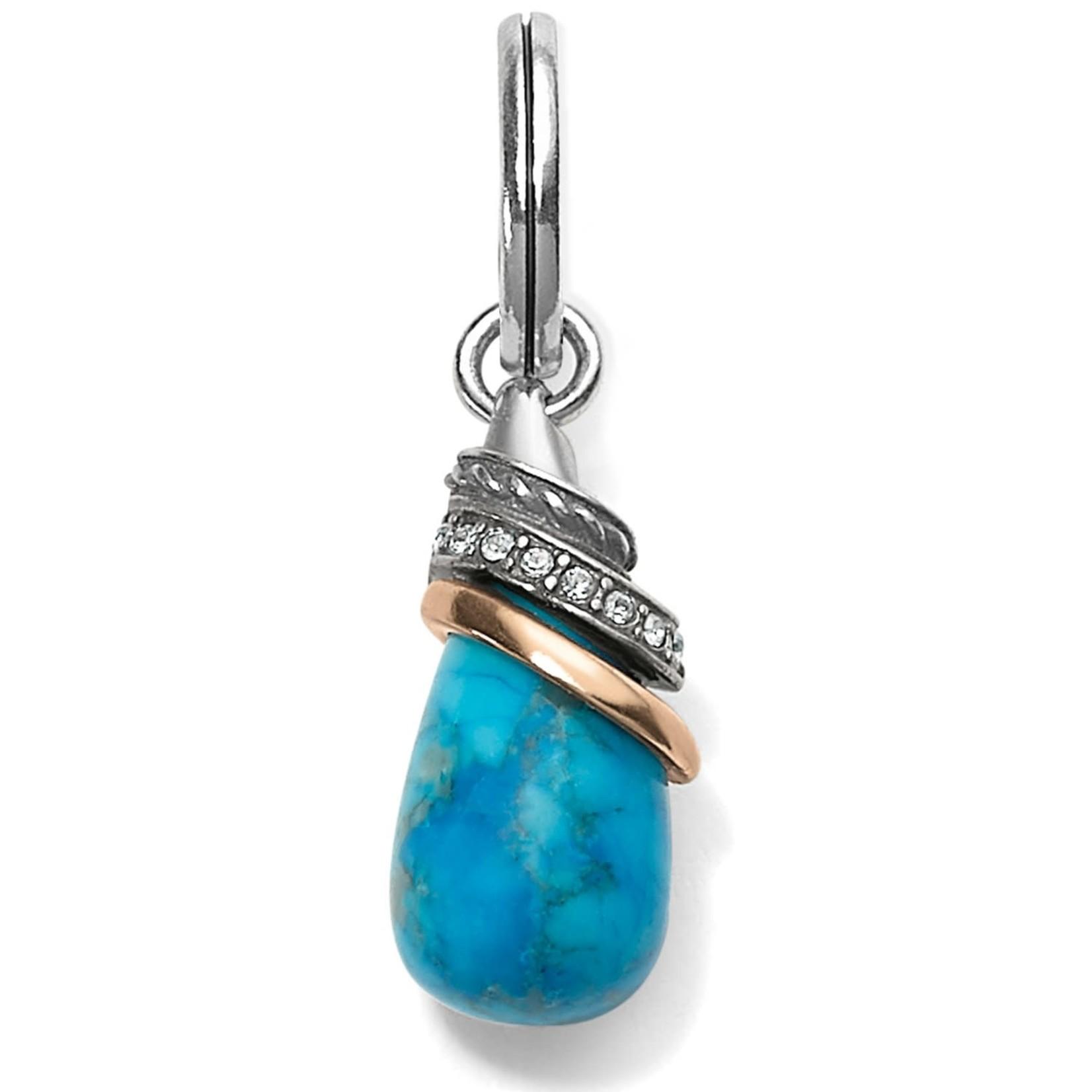 Brighton Turquoise Howlite Teardrop Amulet