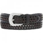 Brighton Burma Laced Belt Black/Brown Size 36