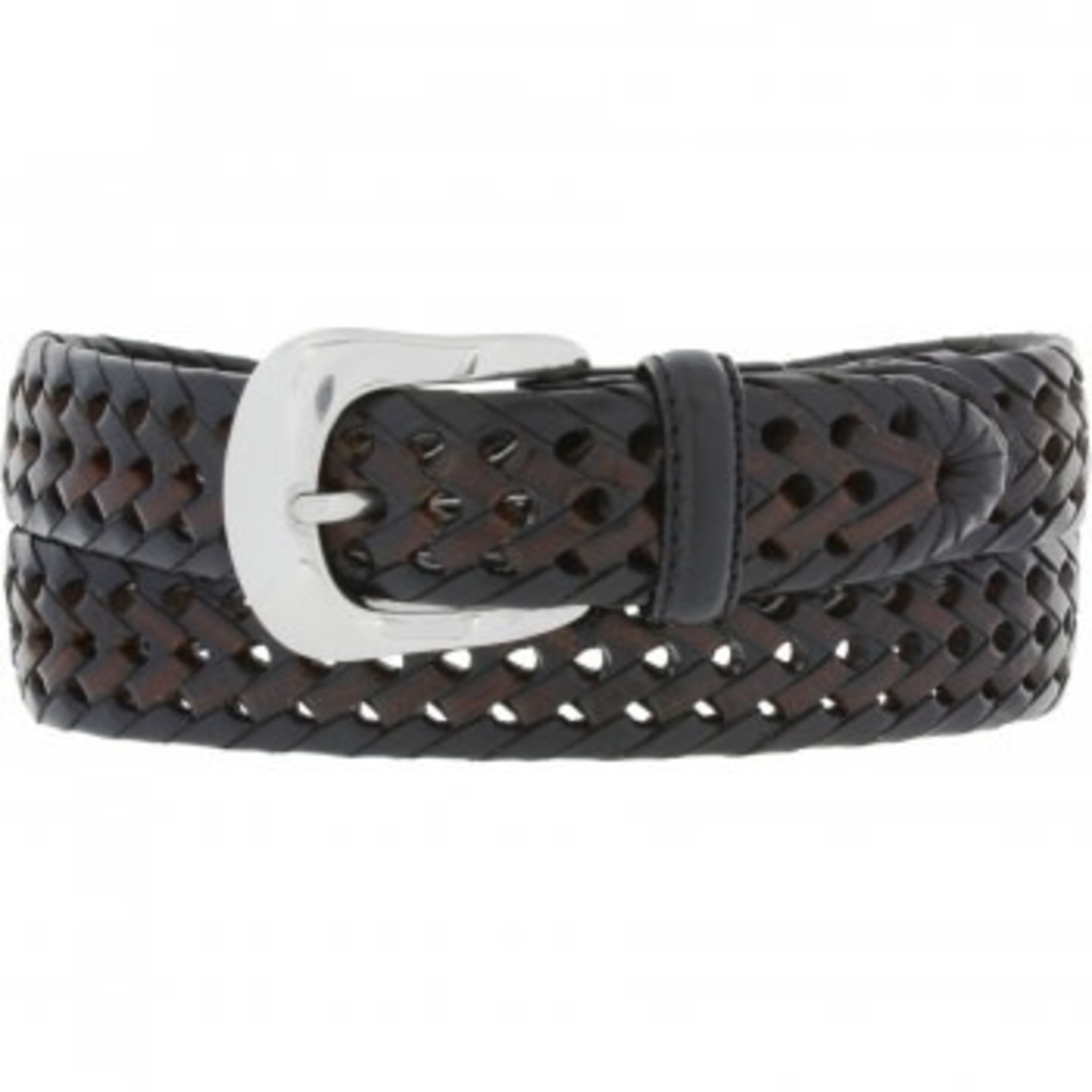 Brighton Burma Laced Belt Black/Brown Size 36