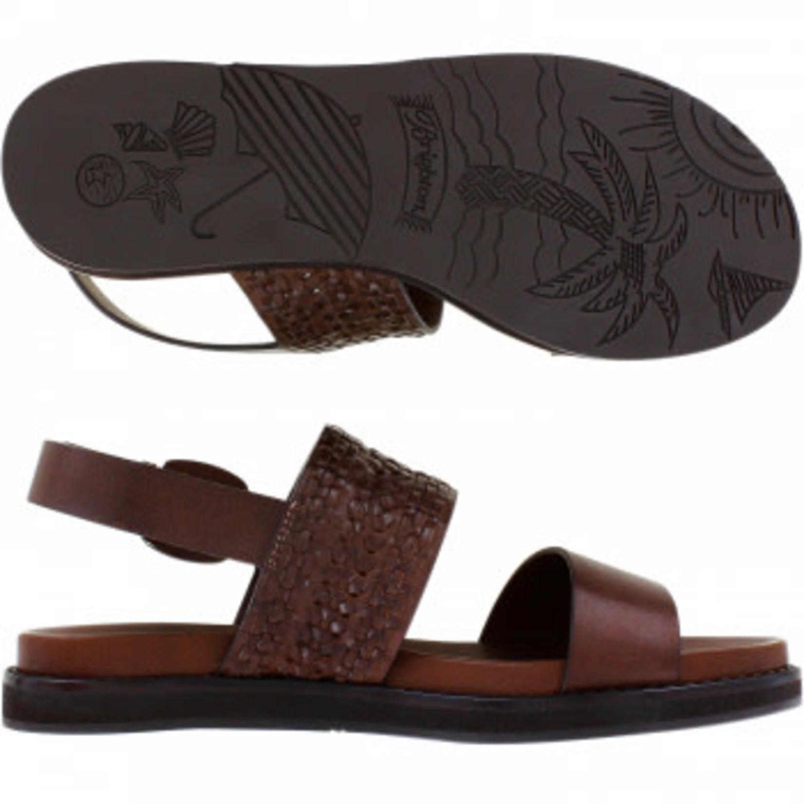Brighton Hana Caramel Leather Sandal