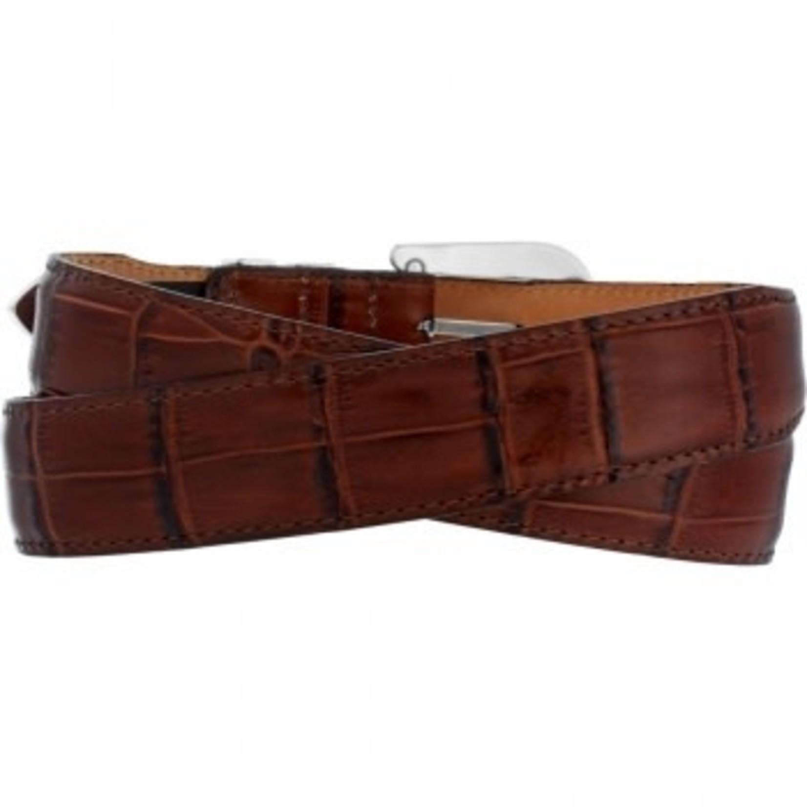 Brighton Catera Taper Crocodile Belt in Peanut Size 34