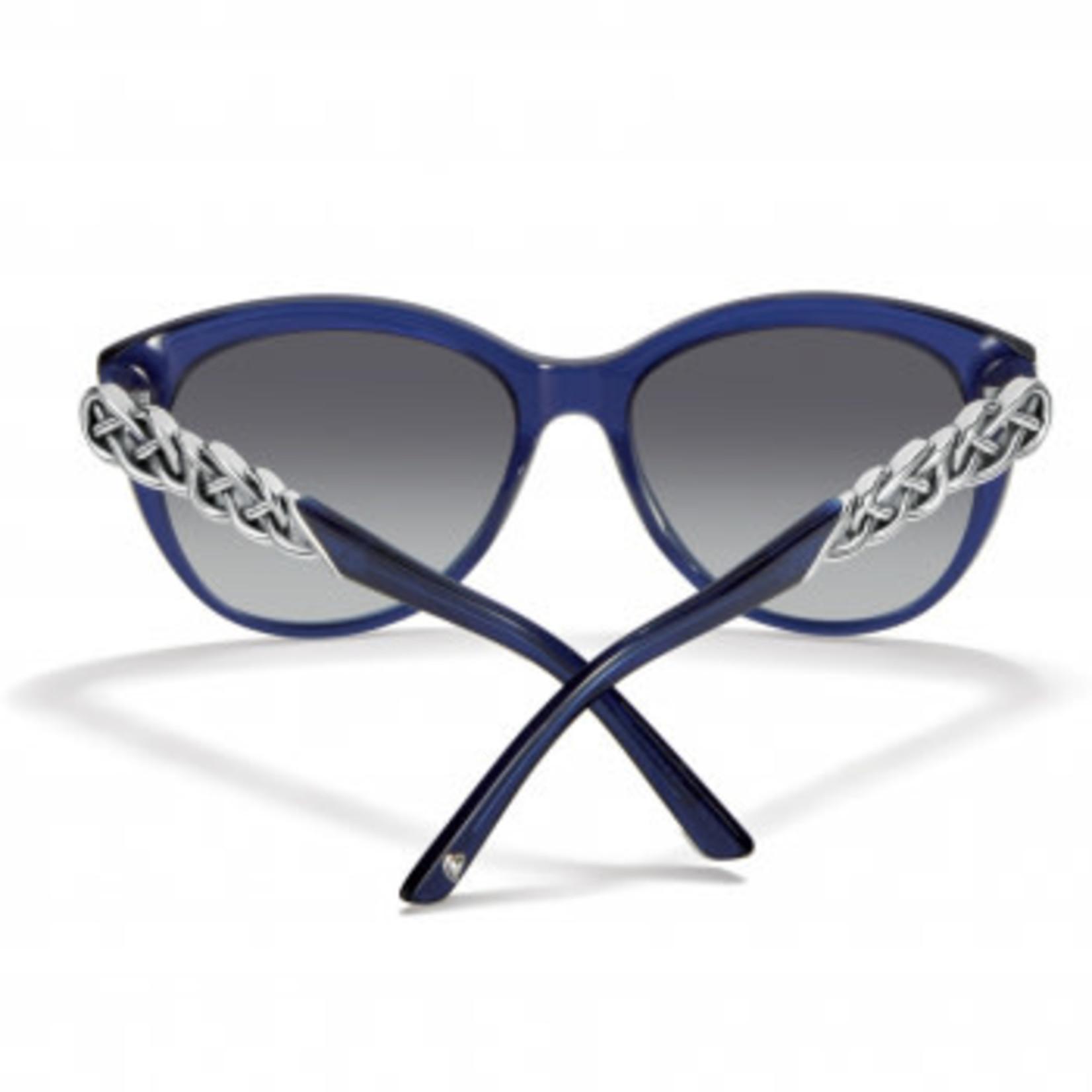 Brighton Interlok Braid Sunglasses in Navy