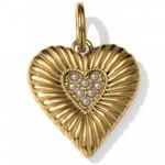 Brighton Wisdom Heart Amulet in Gold-Pearl