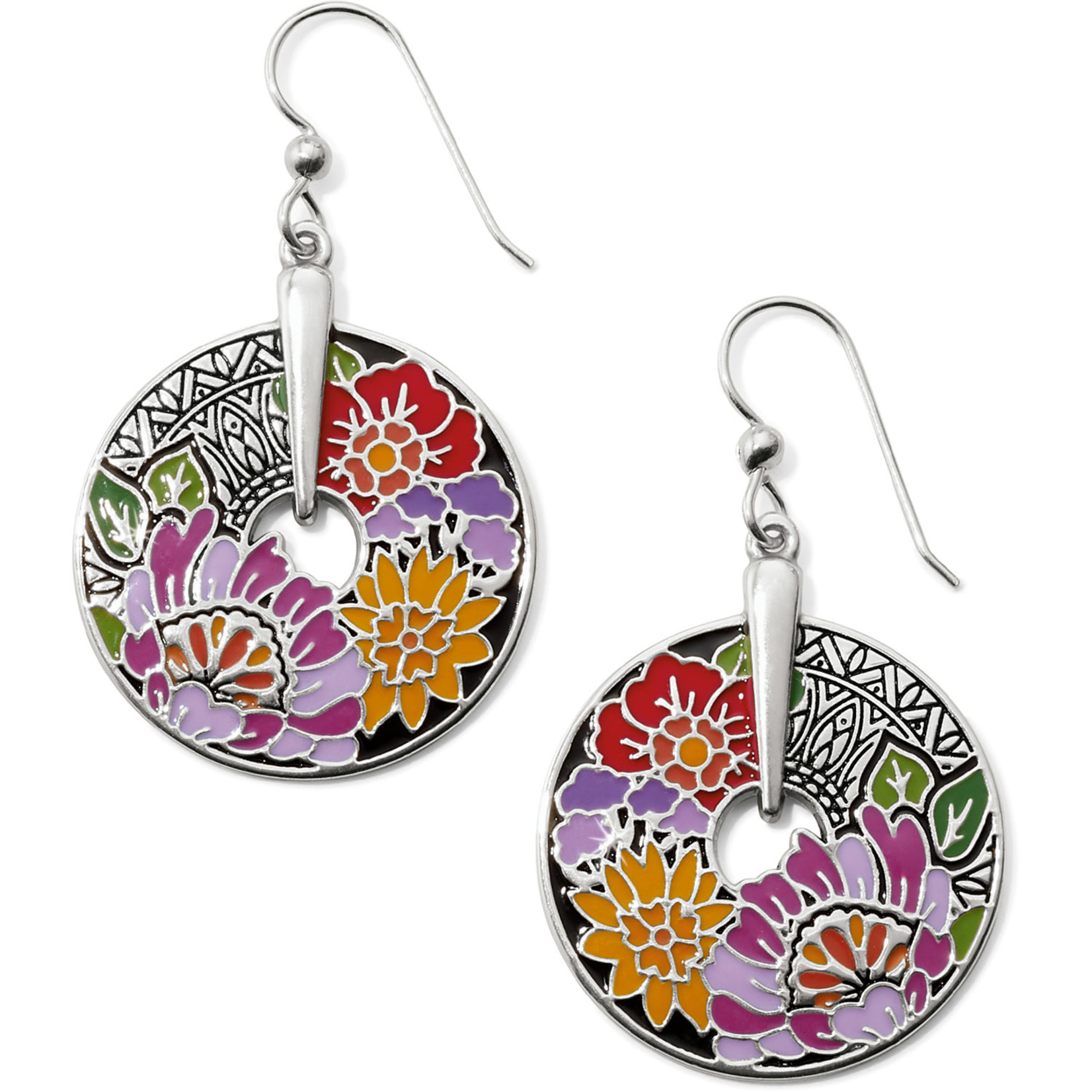 Brighton Africa Stories Floral French Wire Earrings