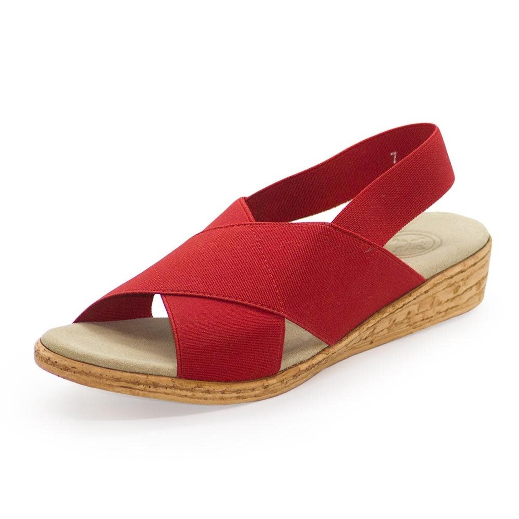 Atlantic Sandal in Red 10