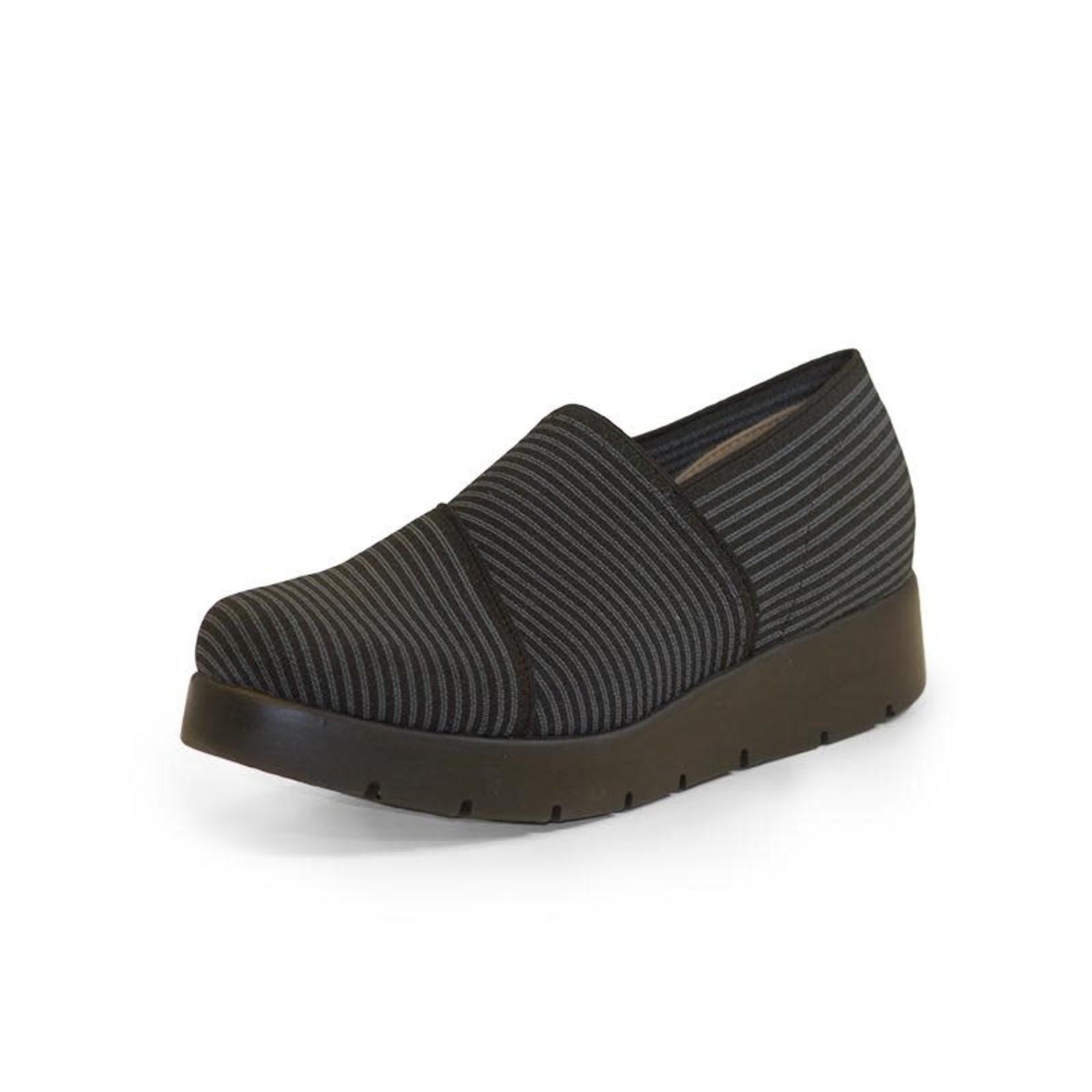 Milly Shoe in Gray Pin Stripe 10