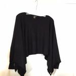 Black Knit Sweater Topper