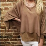 Toffee Knit Sweater Topper