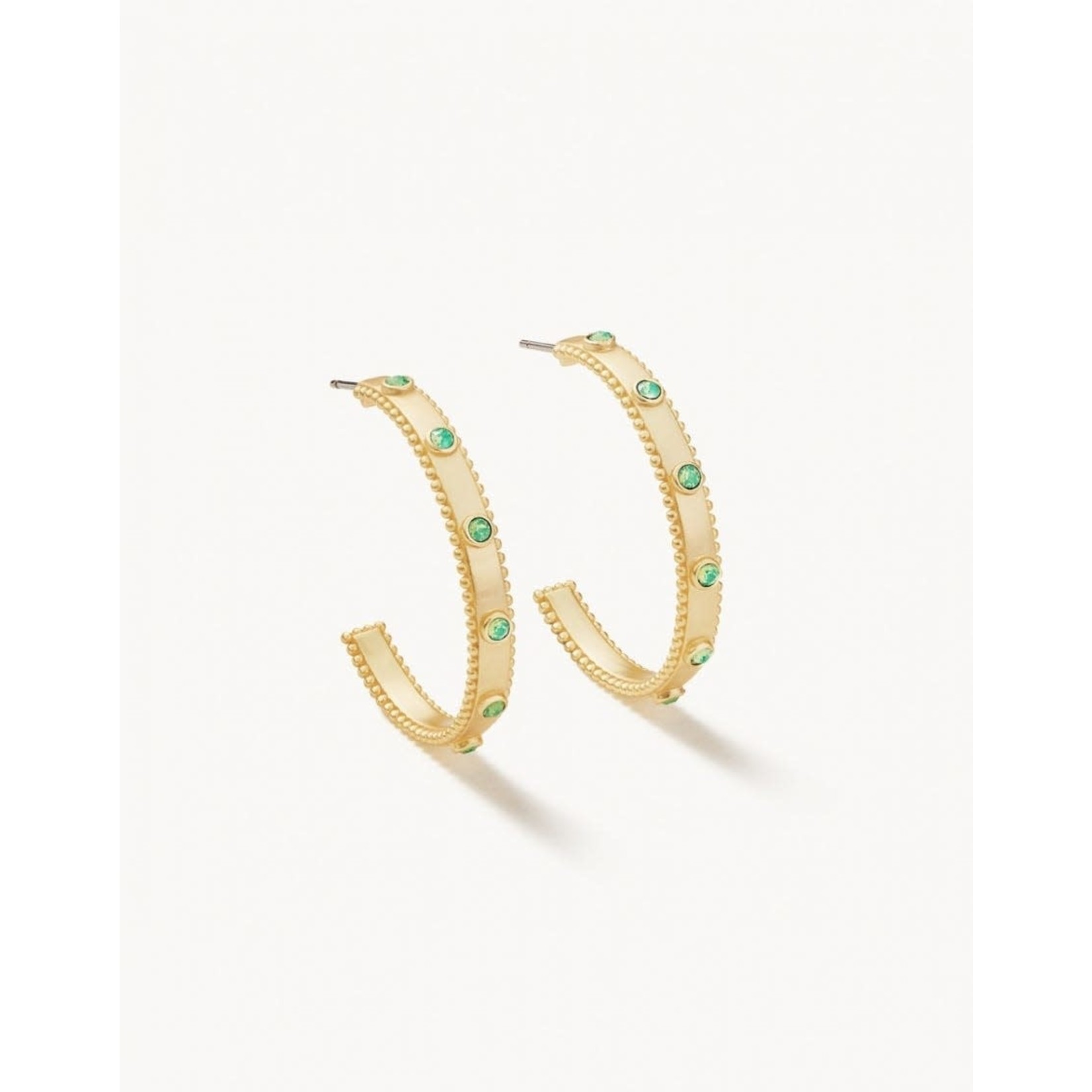 Spartina Atlantic Opal Gold Hoop Earrings