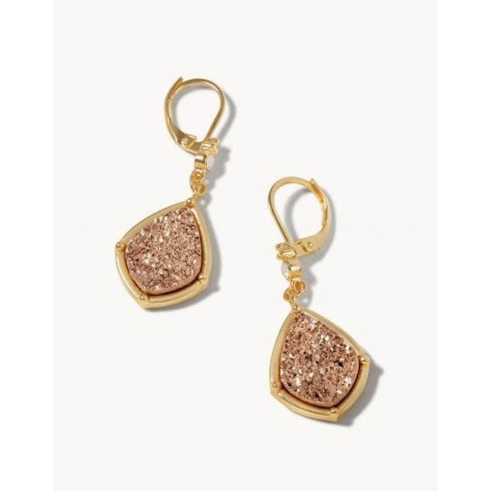 Spartina Prosecco Druzy Drop Earrings
